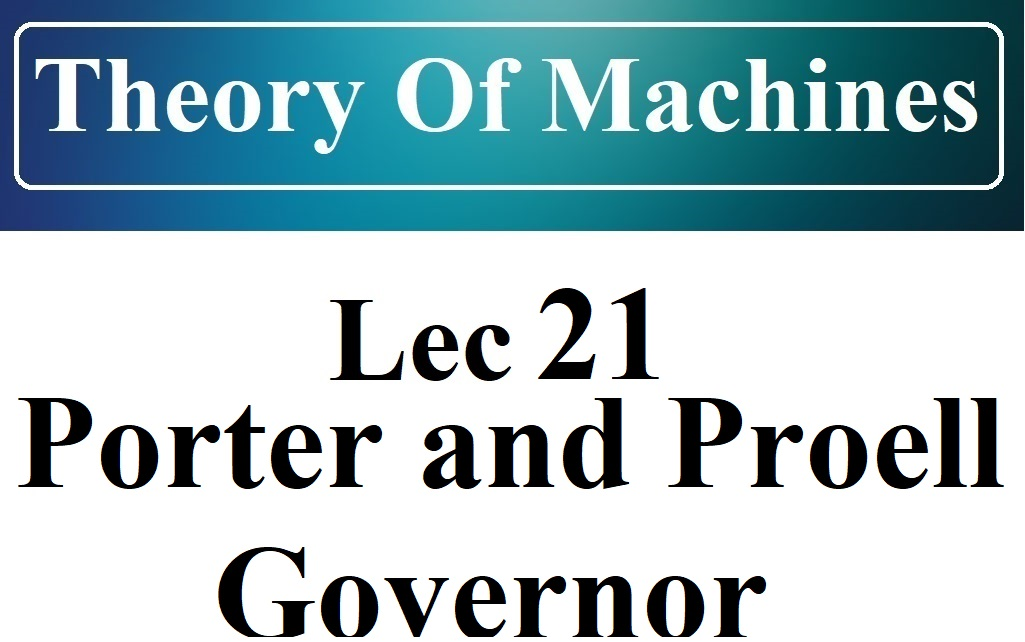 Lec 21 Dead Weight Governor (Porter And Proell)