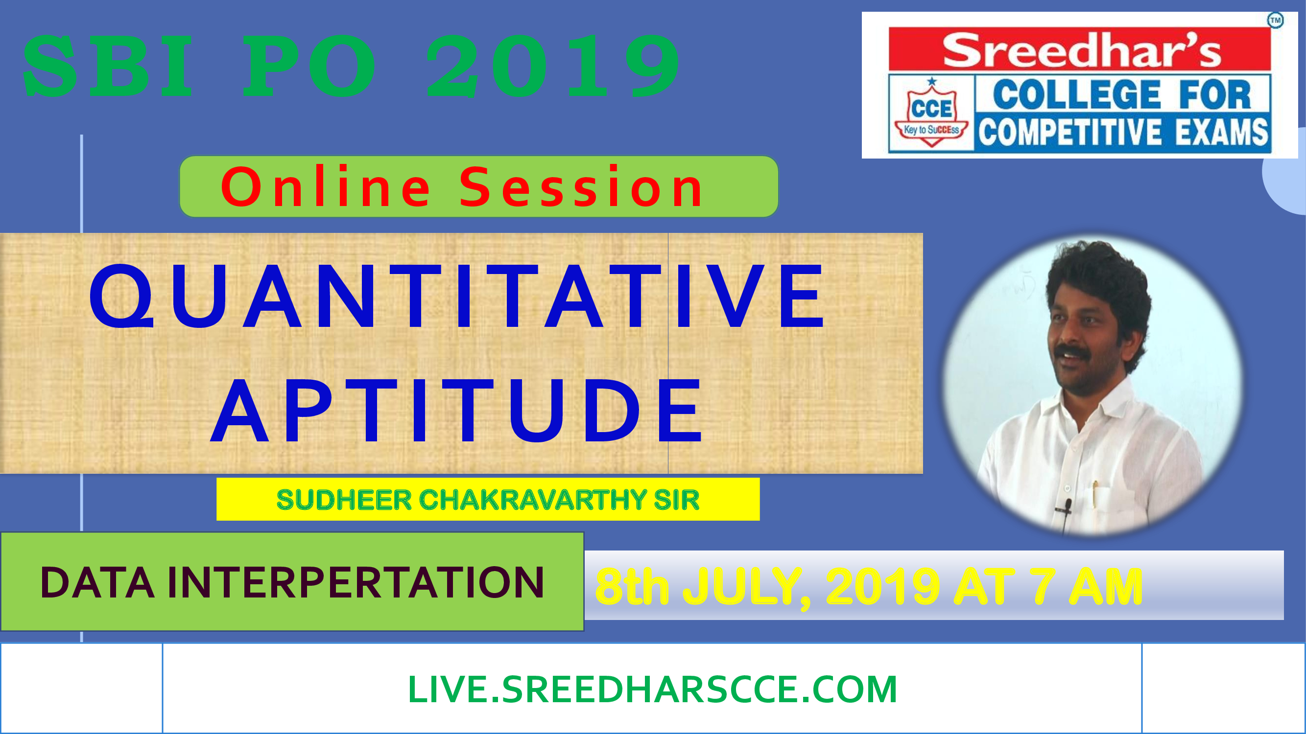 Class Session 29 Quantative Aptitude | By Sudheer Chakravarthy Sir (DATA INTERPRETATION)