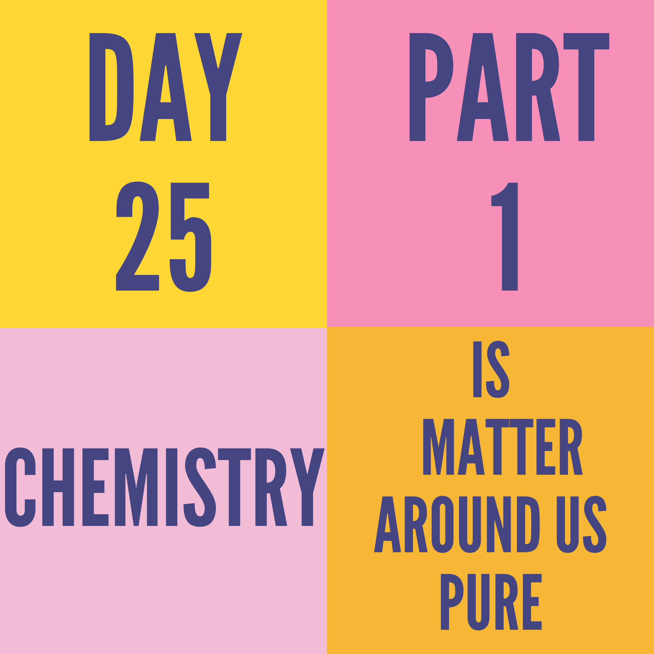 DAY-25 PART-1 IS MATTER AROUND US PURE