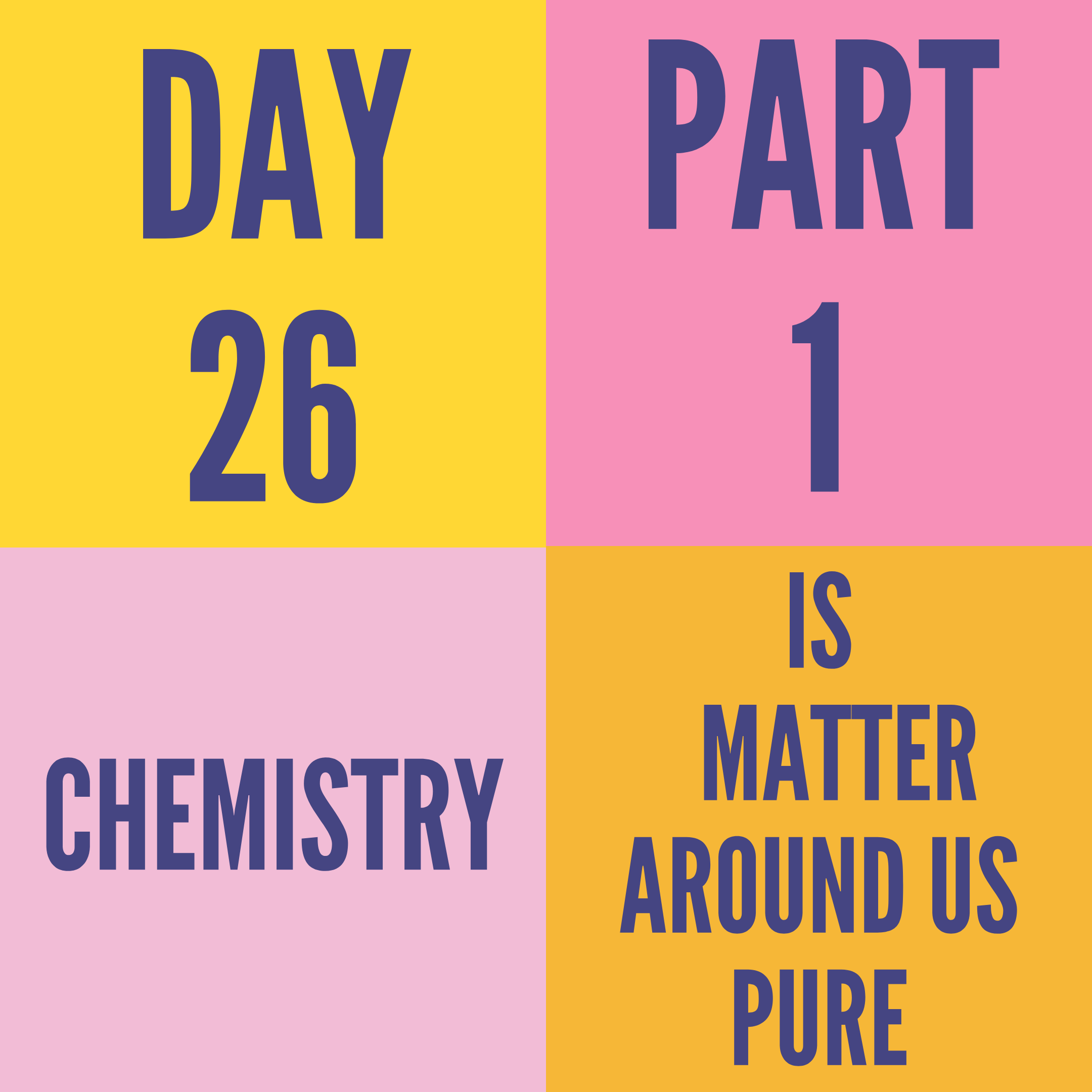 DAY-26 PART-1 IS MATTER AROUND US PURE