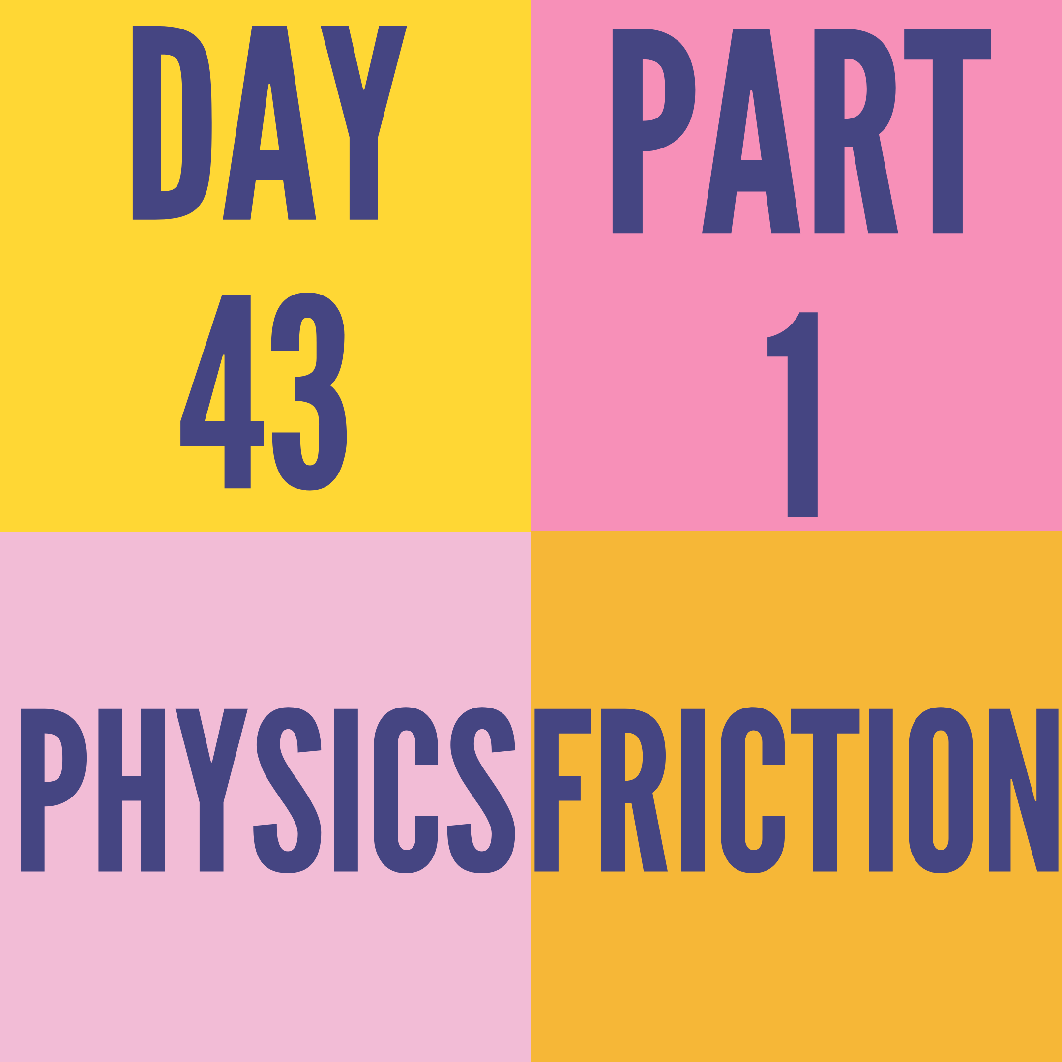 DAY-43 PART-1 FRICTION