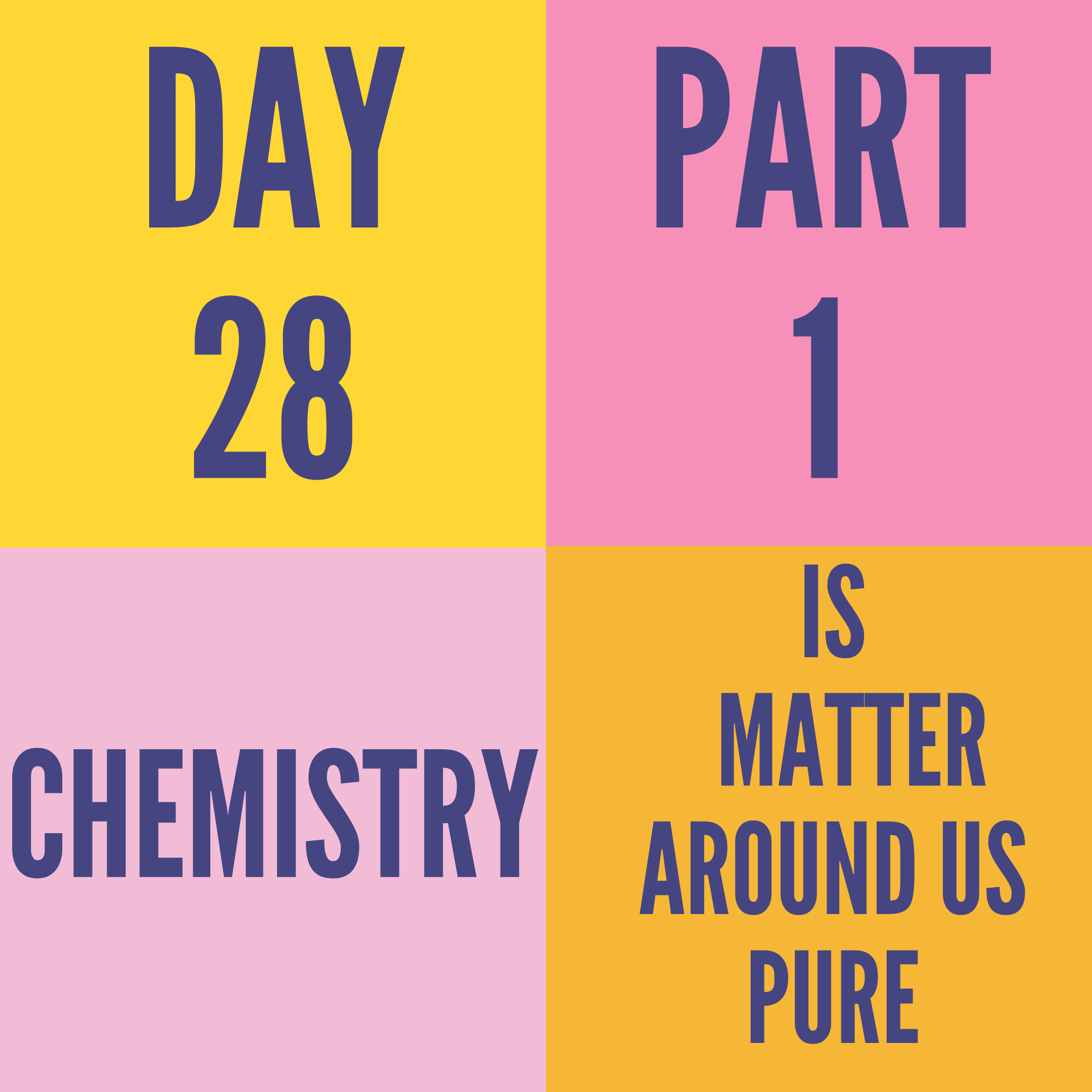 DAY-28 PART-1 IS MATTER AROUND US PURE