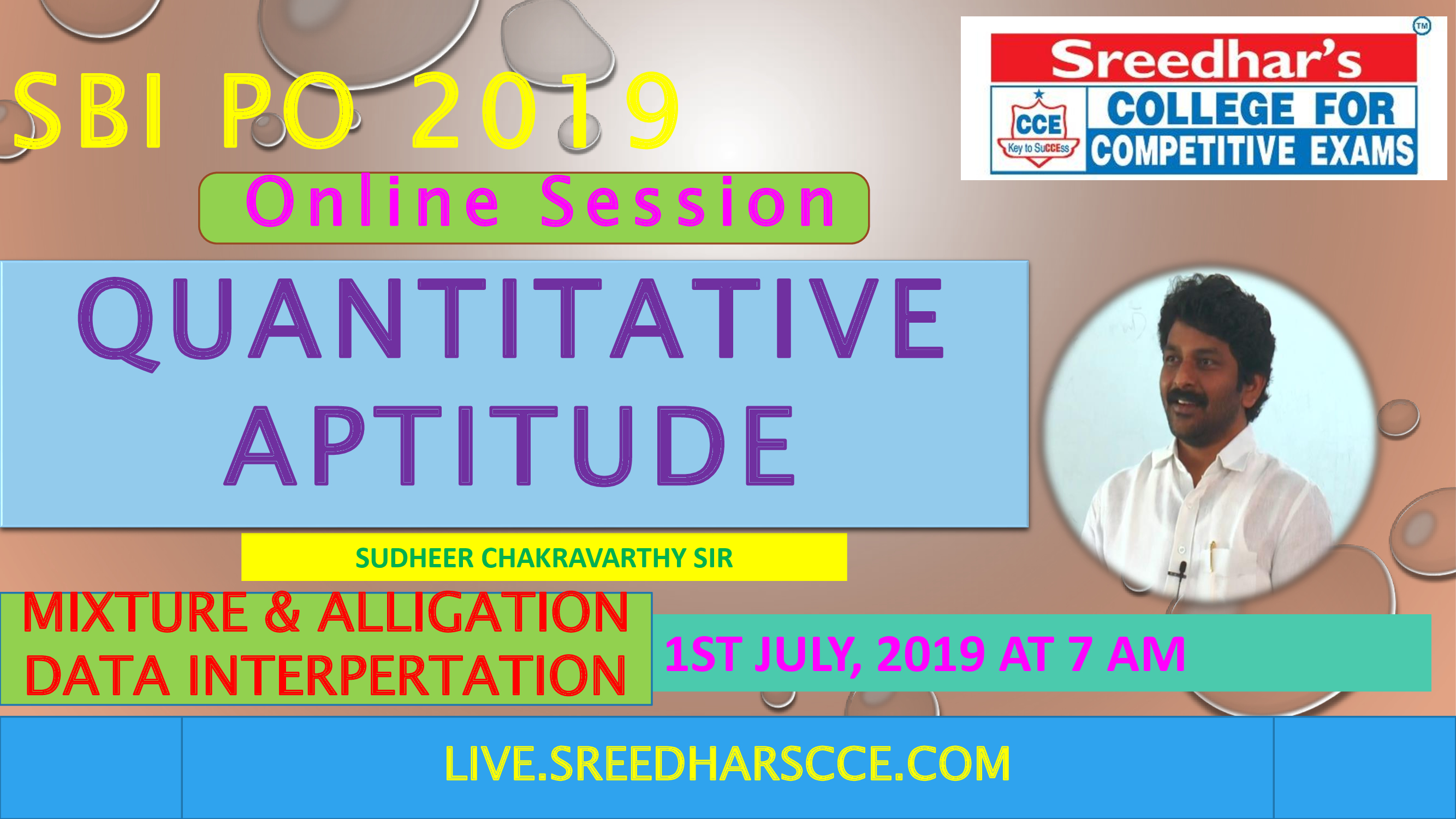 Class Session 25 Quantative Aptitude | By Sudheer Chakravarthy Sir (MIXTURE & ALLIGATION,DATA INTERPRETATION)