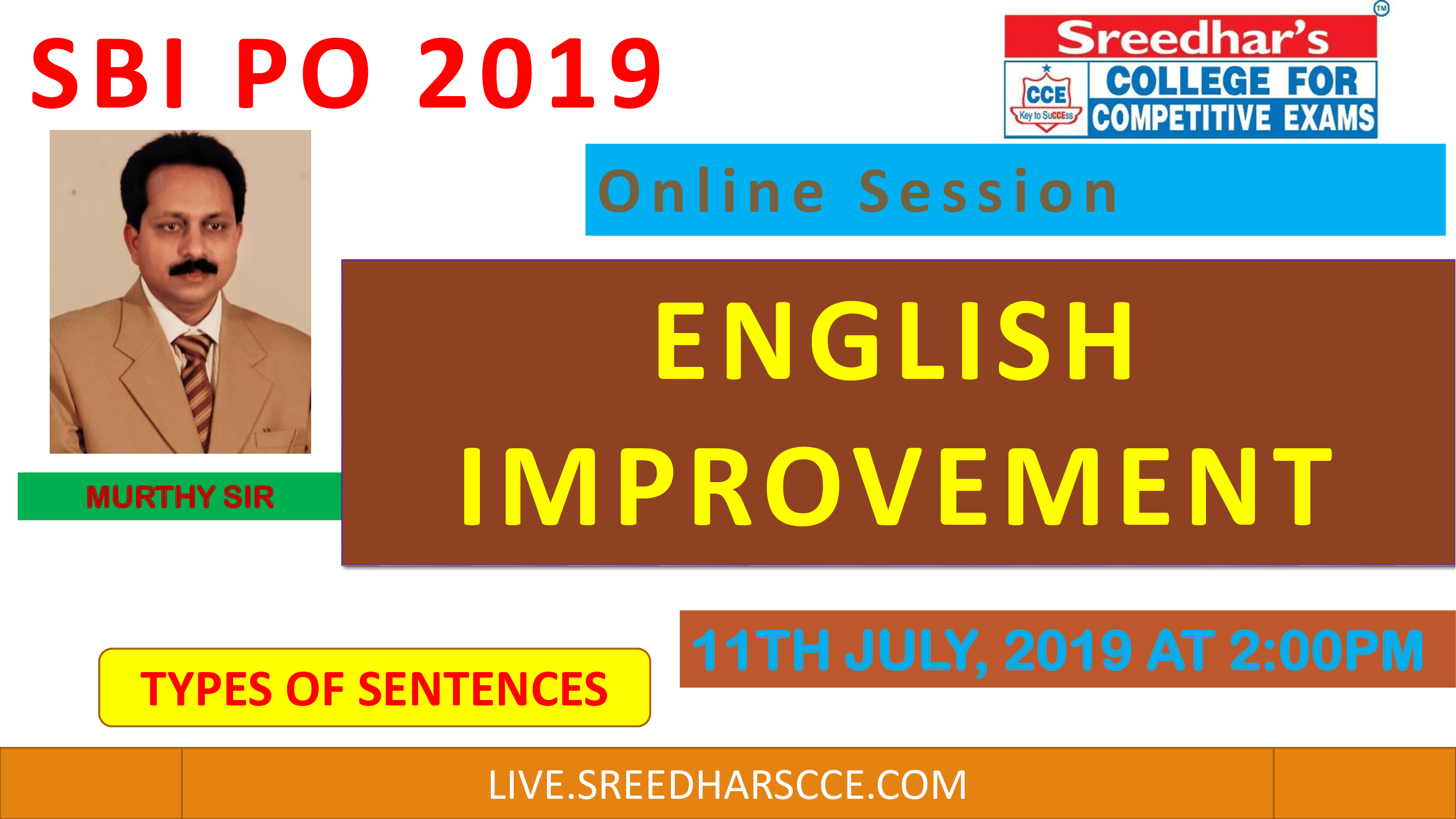 Class Session 25 Eglish Improvement | By Murthy Sir(Types of Sentences)