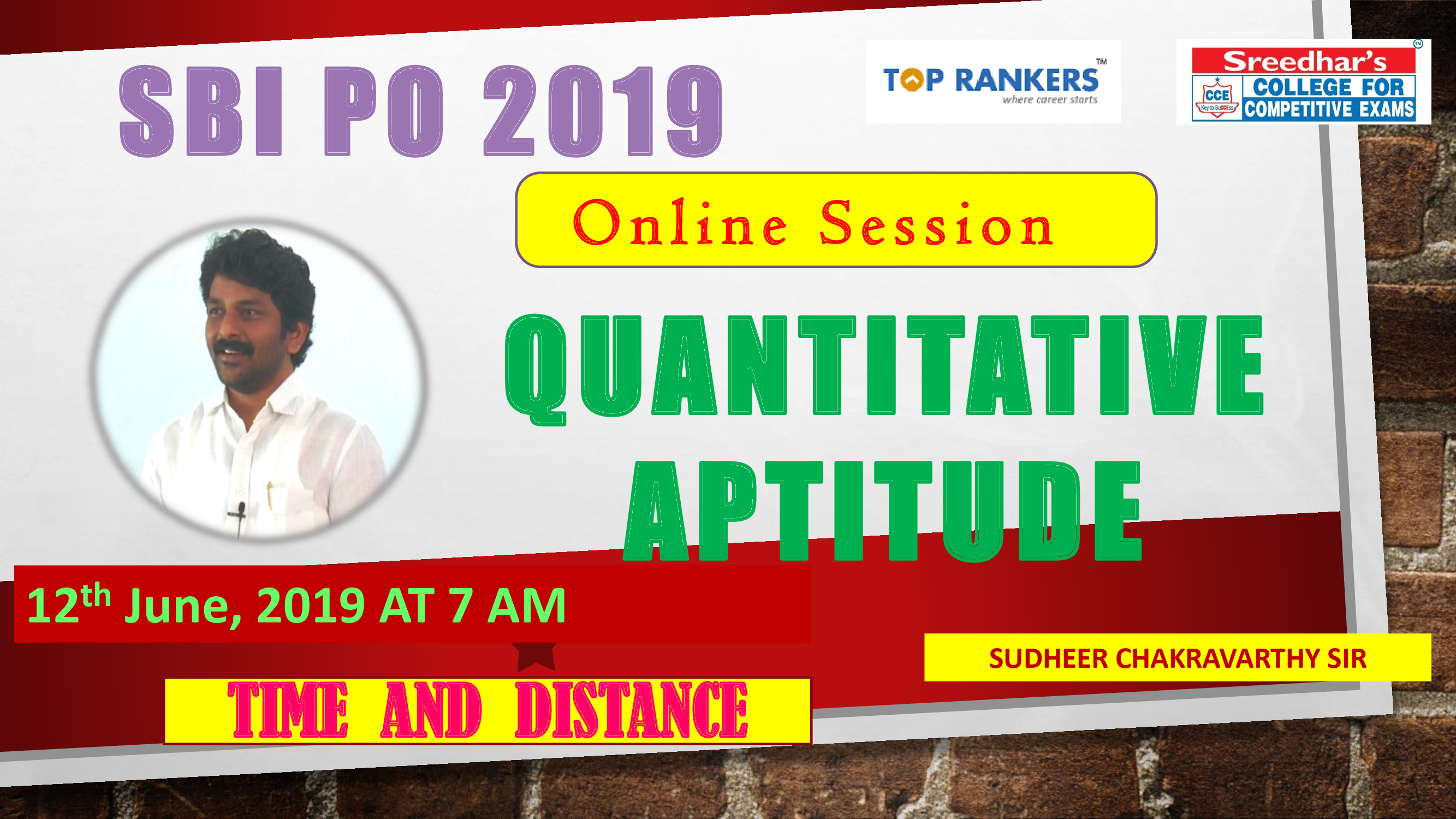 Class Session 12 Quantitative Aptitude | By Sudheer Chakravarthy Sir (Ratio & Proportion)