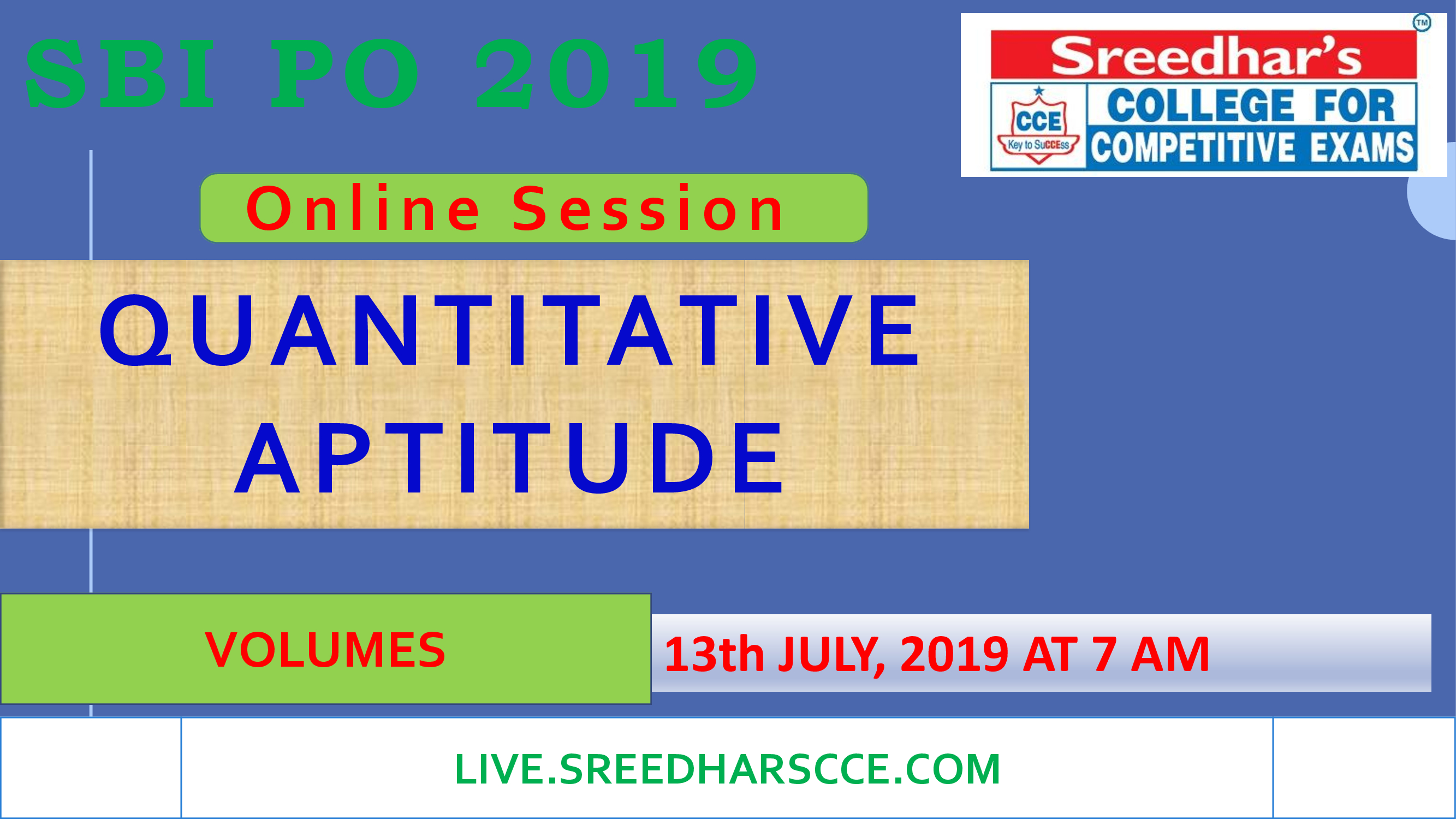 Class Session 33 Quantative Aptitude | ( VOLUMES)