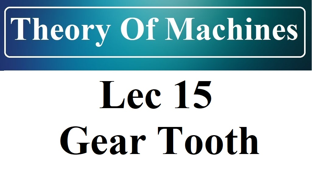 Lec 15 A Gear Tooth Profiles and Interference