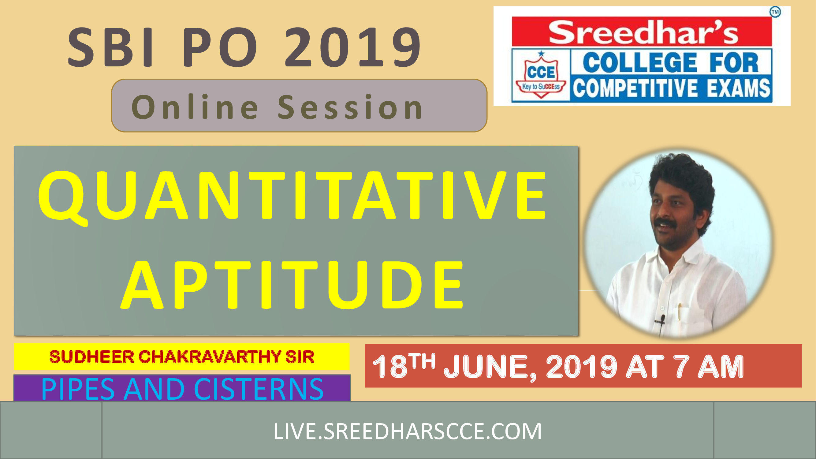 Class Session 18 Quantitative Aptitude | By Sudheer Chakravarthy Sir (Pipes and Cisterns)