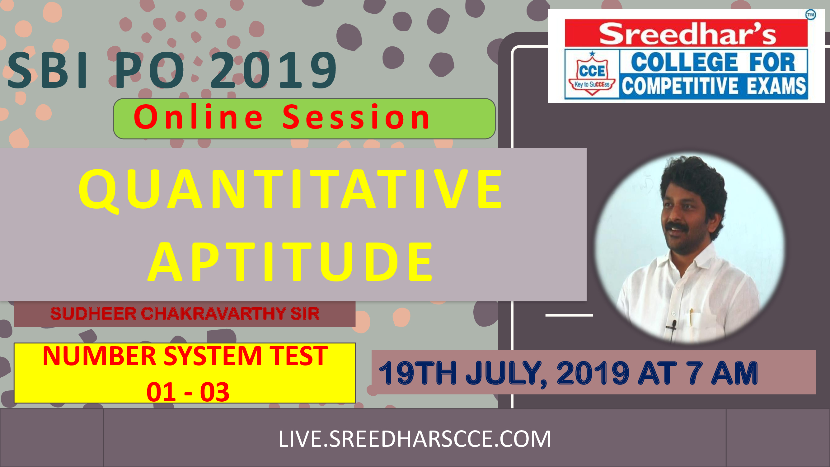 Class Session 35 Quantative Aptitude   By Sudheer Chakravarthy Sir ( Number System Test)