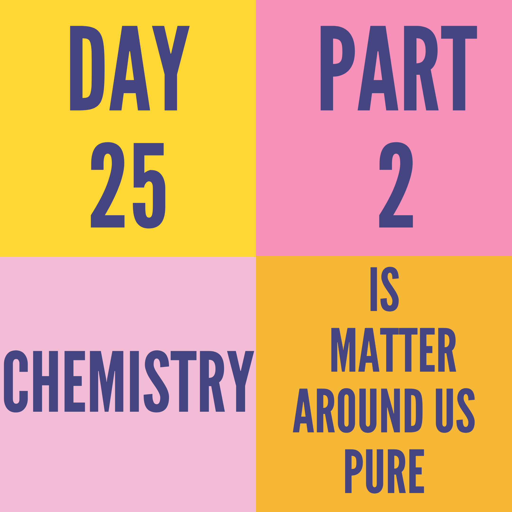 DAY-25 PART-2 IS MATTER AROUND US PURE