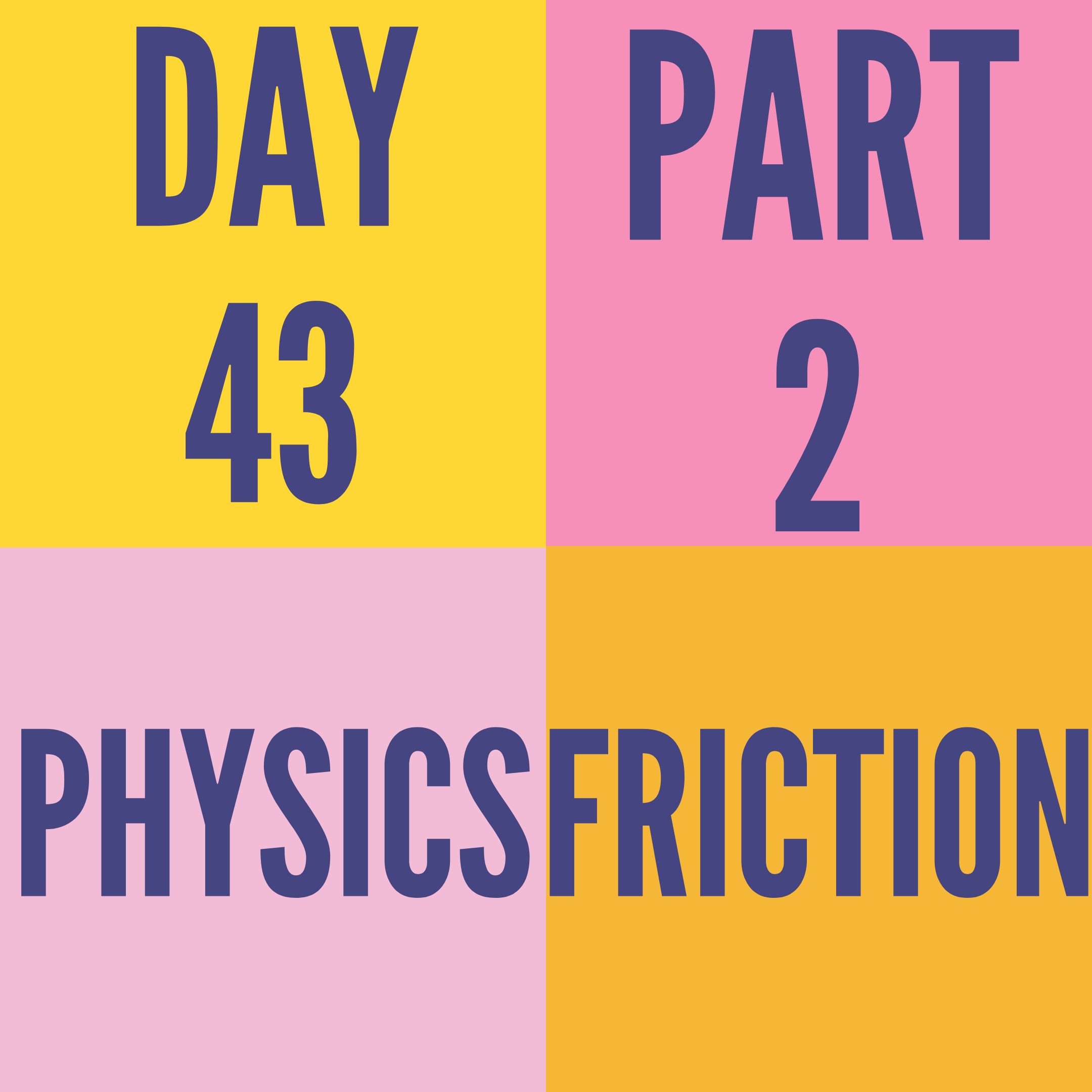 DAY-43 PART-2 FRICTION