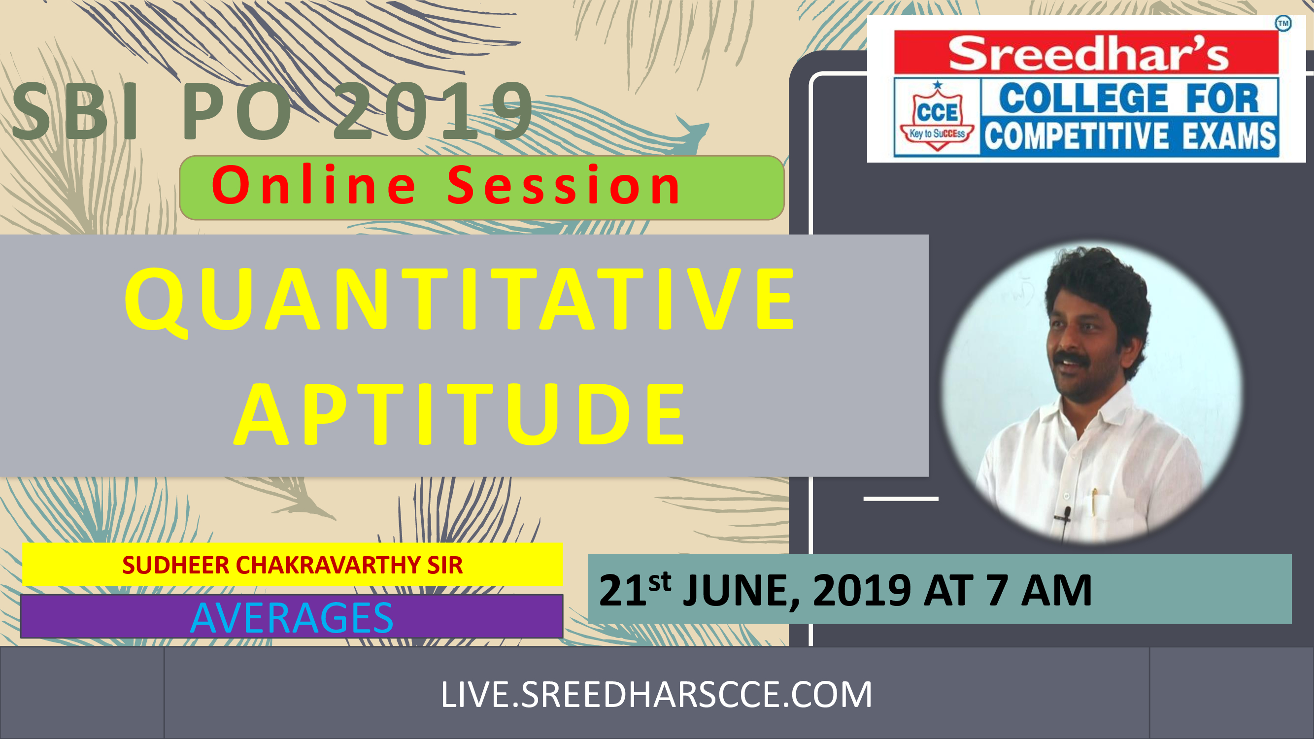 Class Session 20 Quantitative Aptitude | By Sudheer Chakravarthy Sir (Averages)