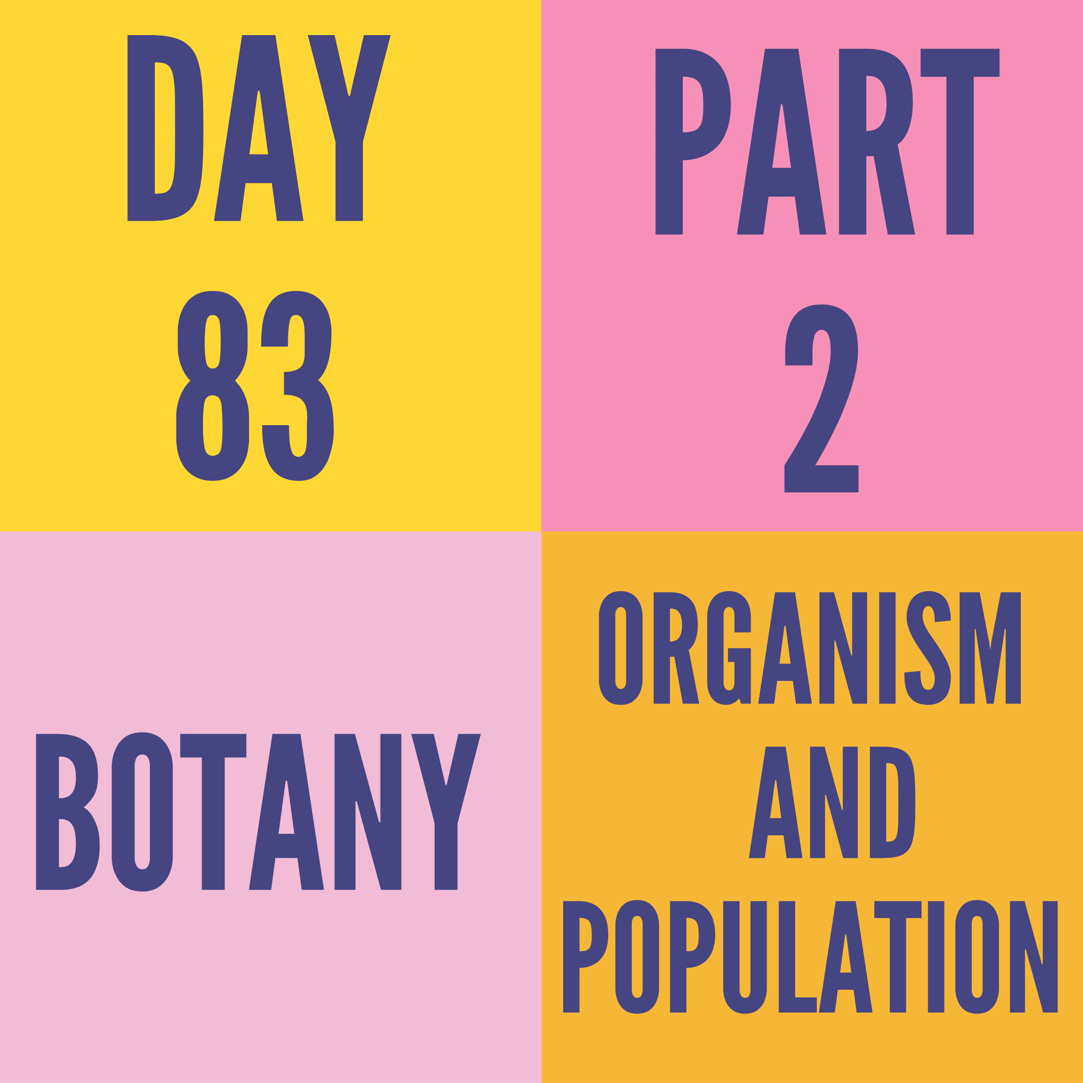 DAY-83 PART-2 ORGANISM AND POPULATION