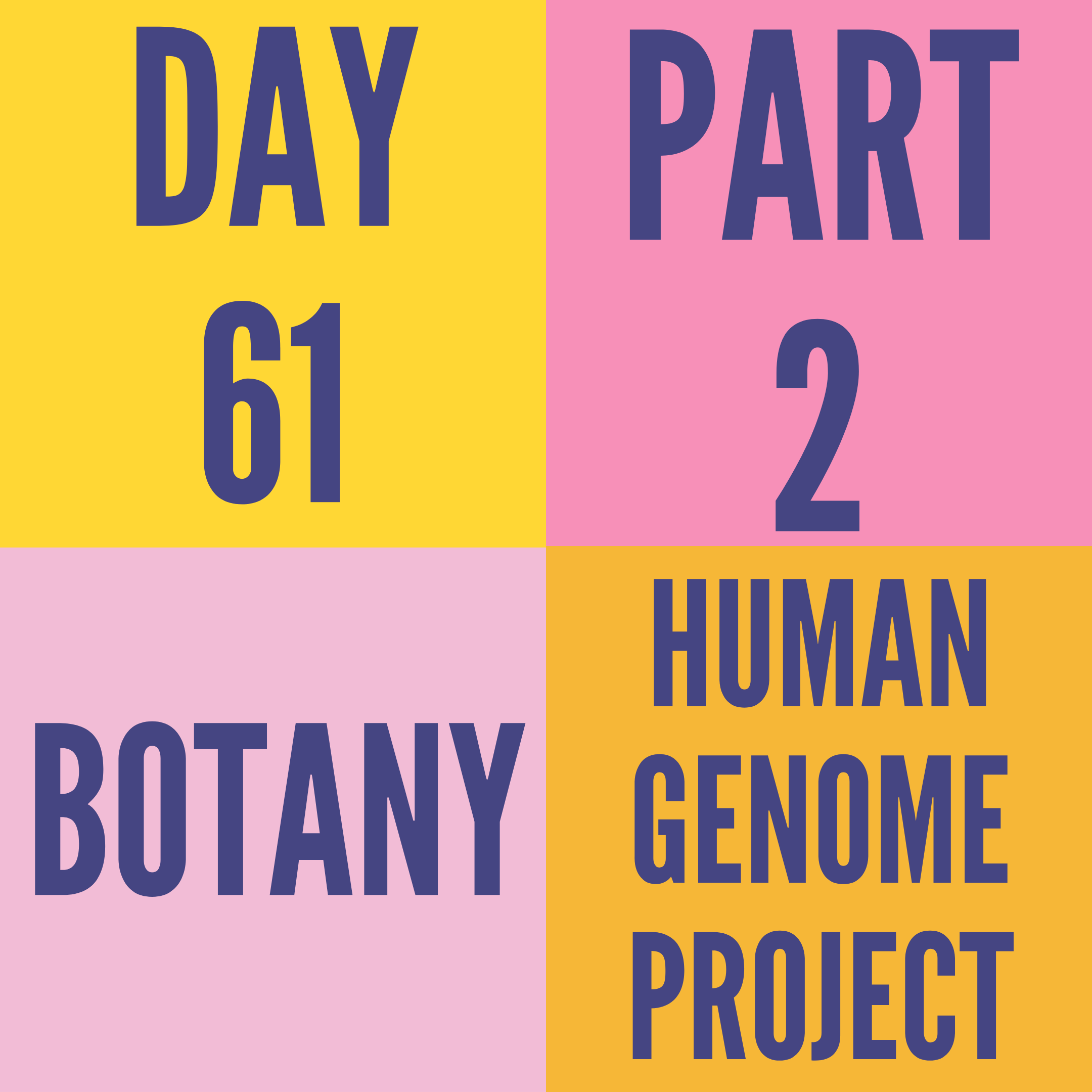 DAY-61 PART-2 HUMAN GENOME PROJECT