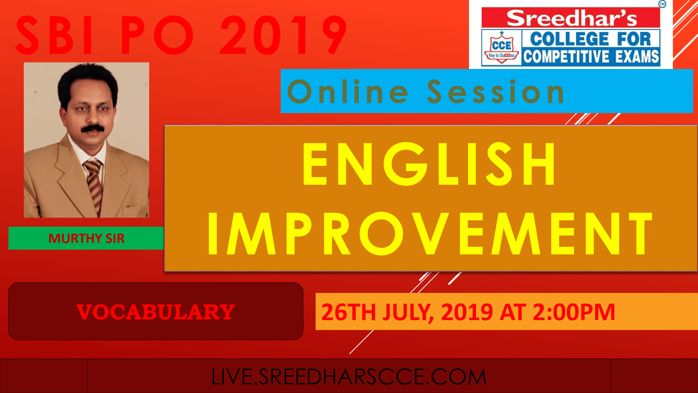 Class Session 33 English Improvement | By Murthy Sir