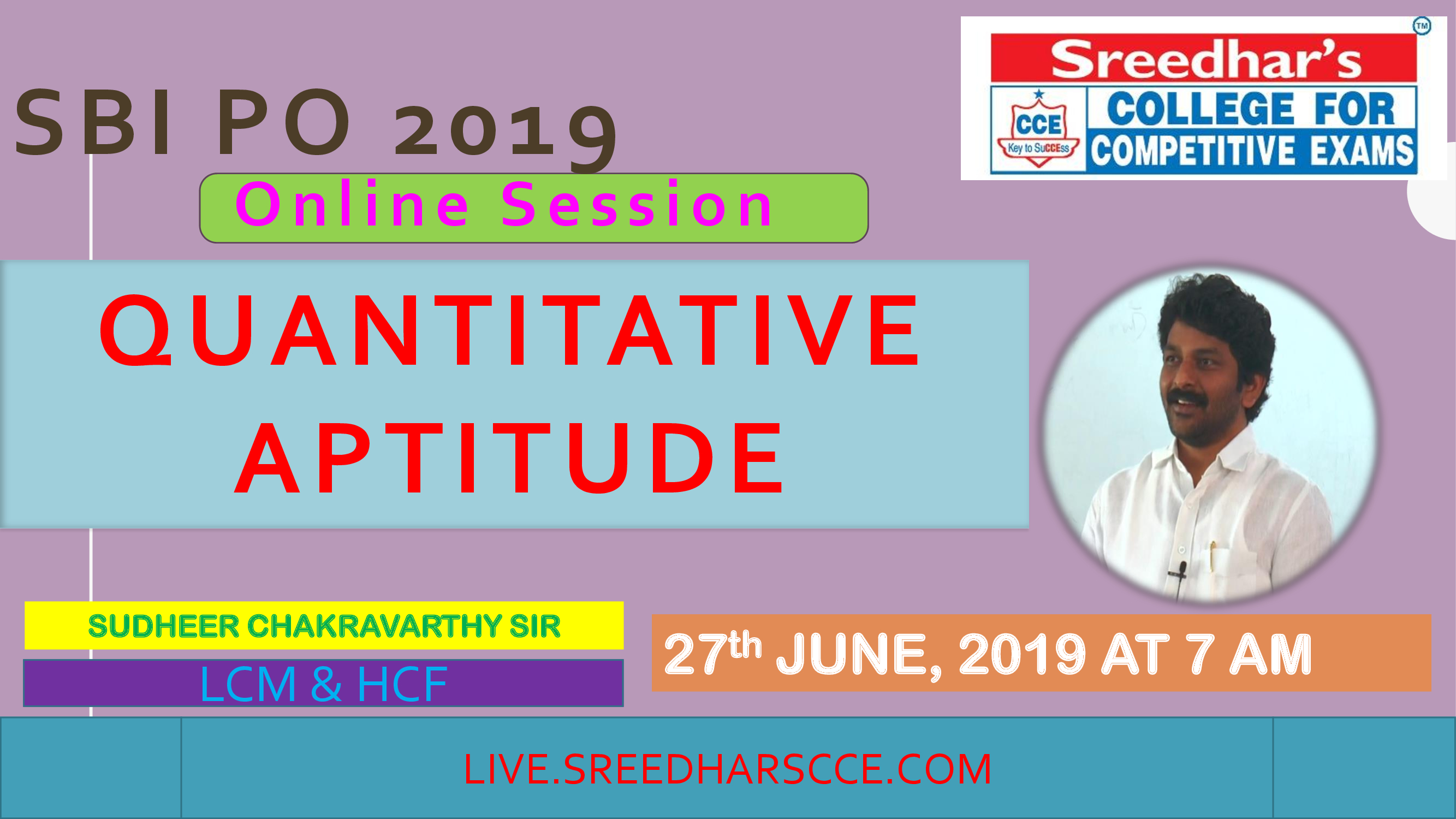 Class Session 23 Quantative Aptitude | By Sudheer Chakravarthy Sir (LCM & HCF)