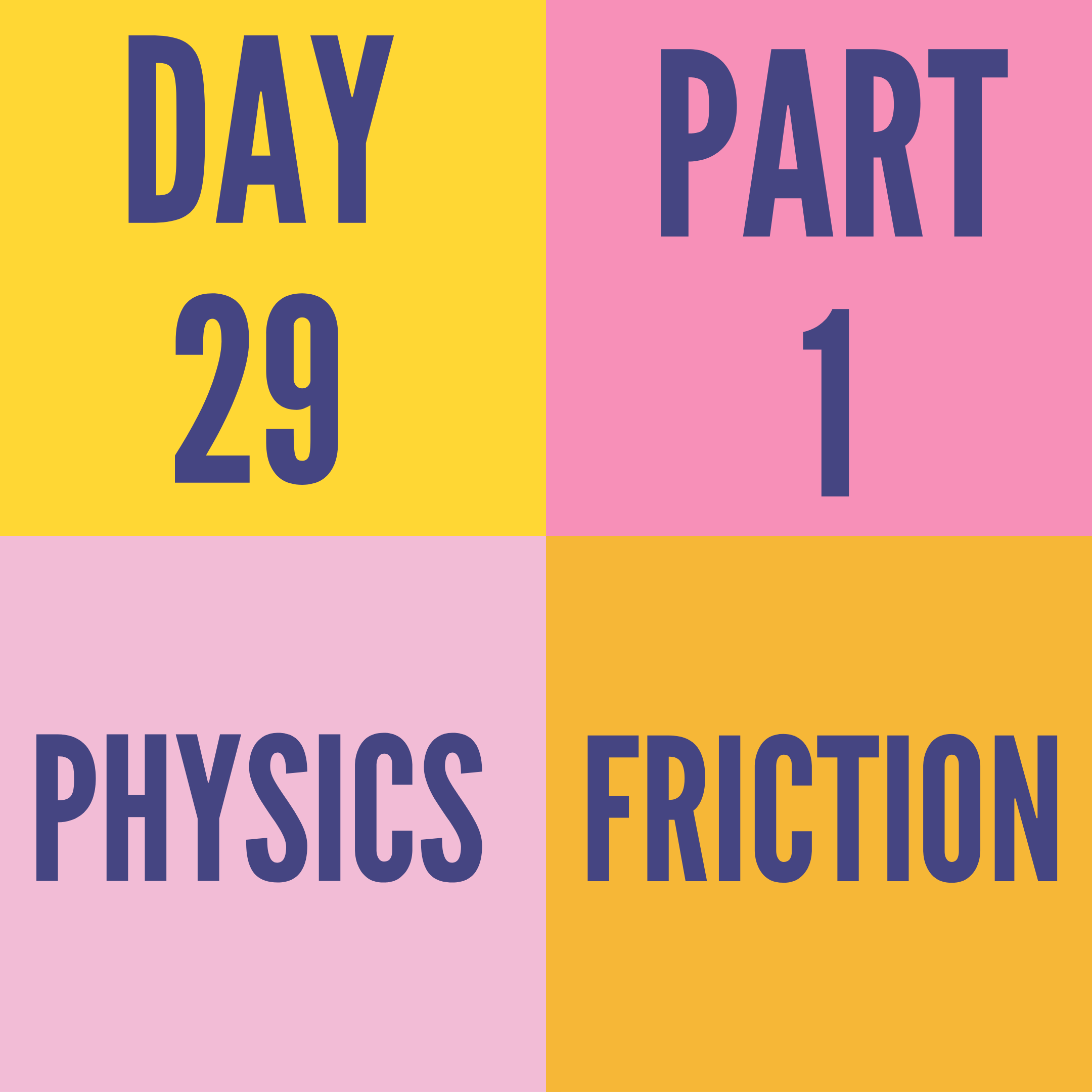 DAY-29 PART-1 FRICTION