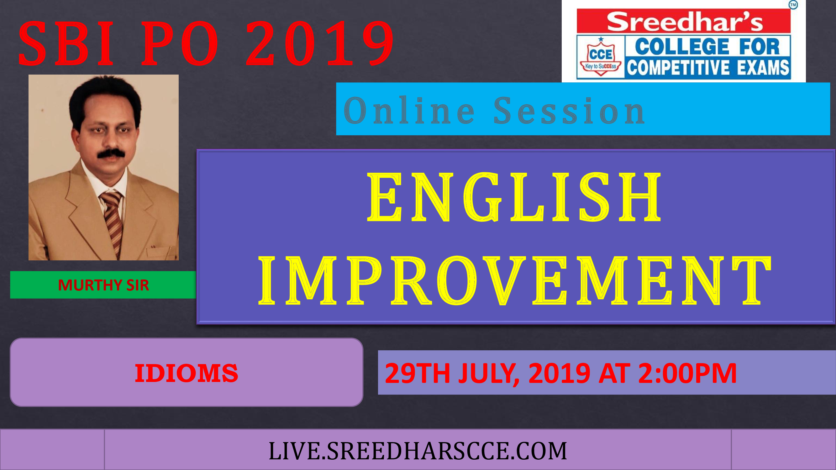 Class Session 34 English Improvement | By Murthy Sir