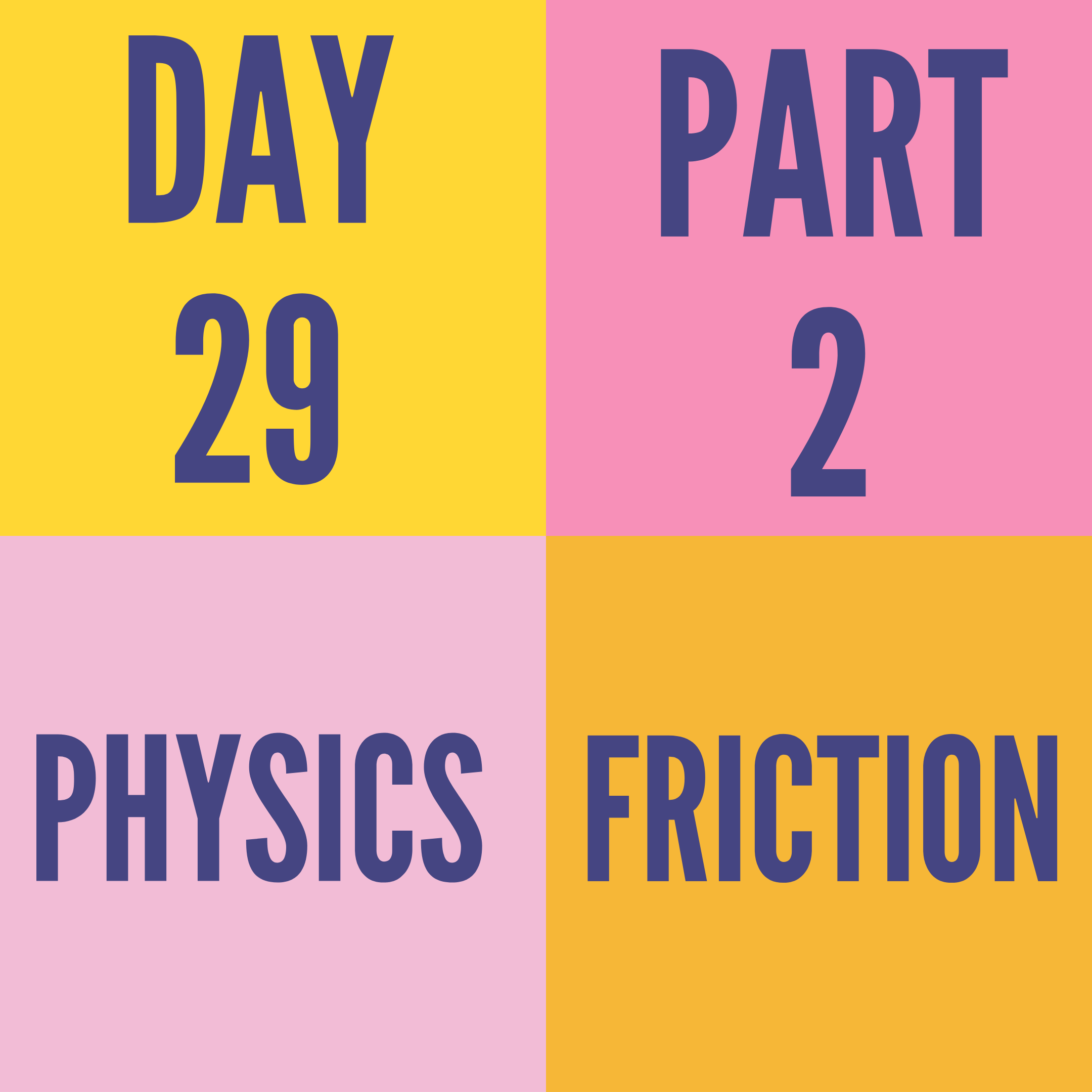 DAY-29 PART-2 FRICTION