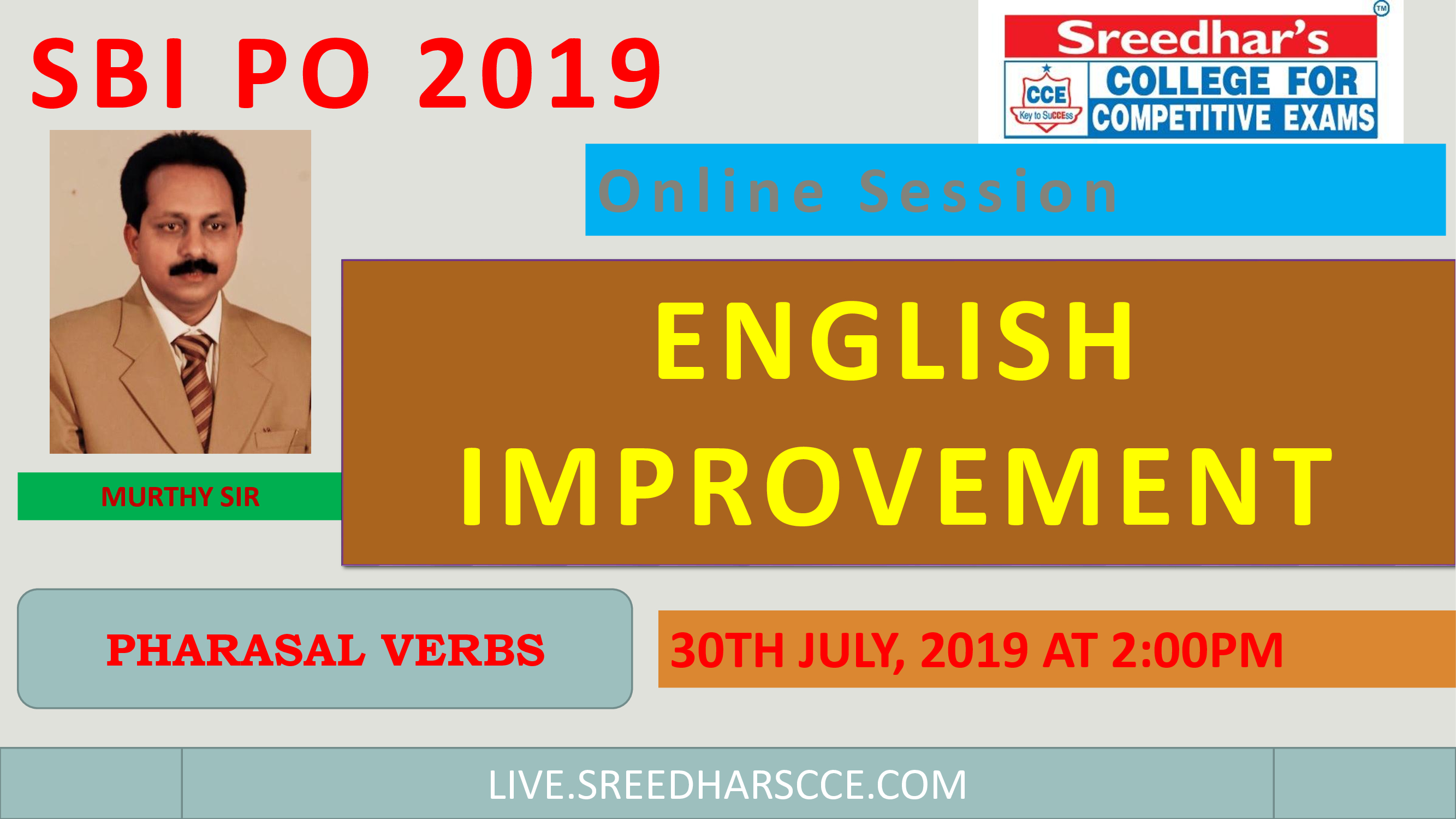 Class Session 35 English Improvement | By Murthy Sir
