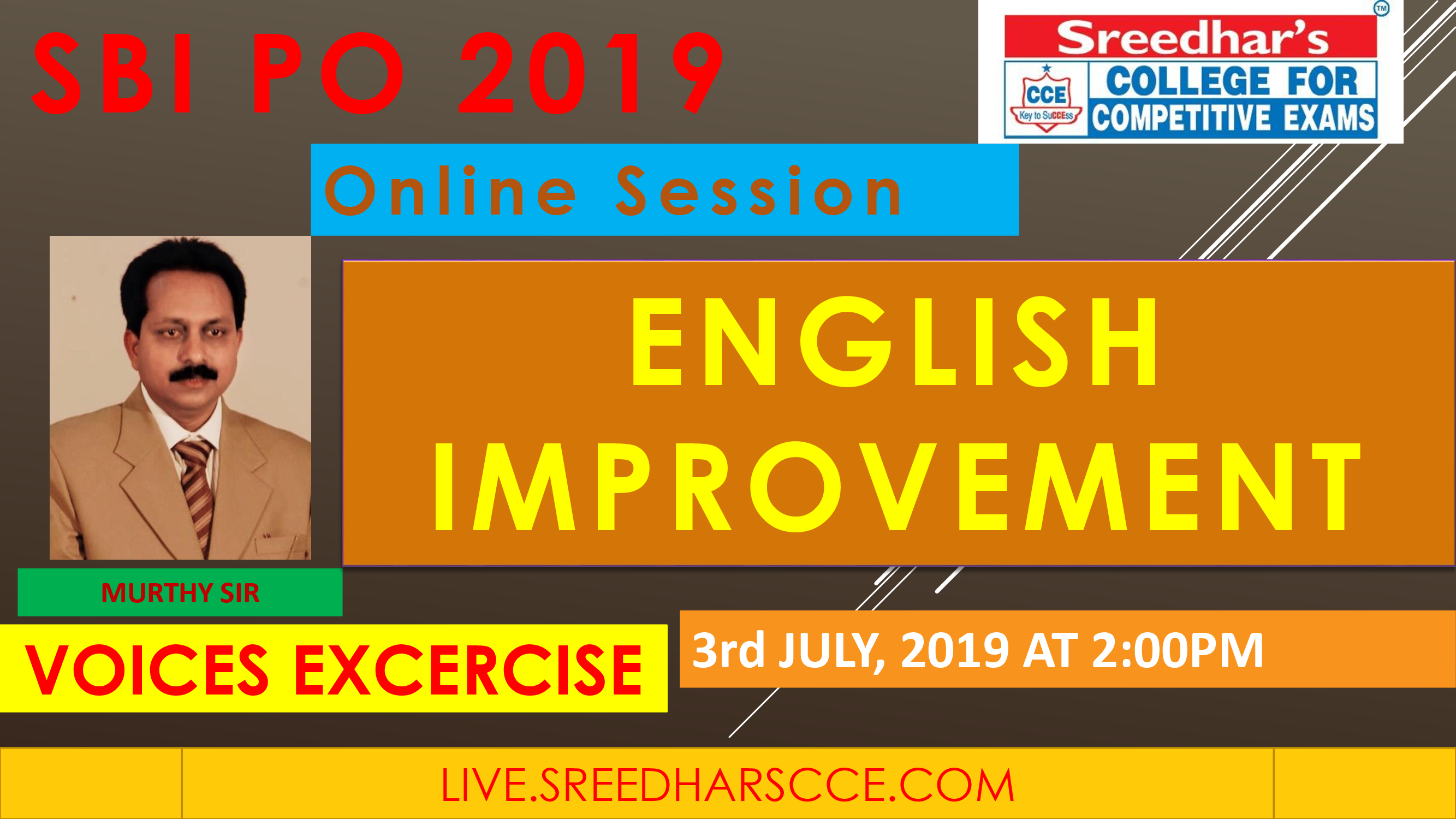 Class Session 19 Eglish Improvement | By Murthy Sir ( Voices Excercise )