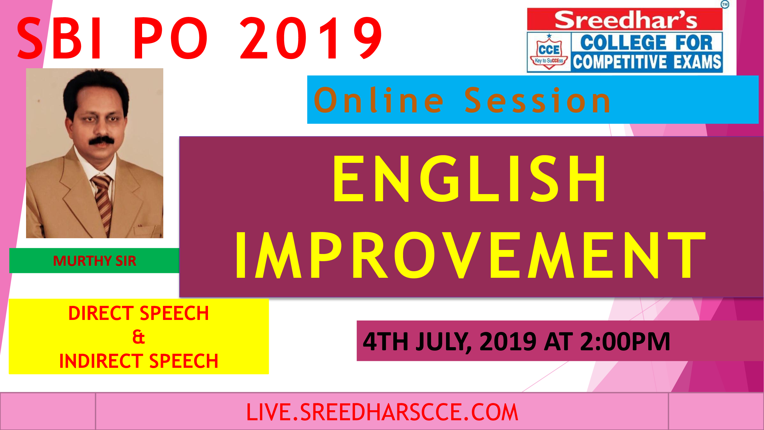 Class Session 20 Eglish Improvement | By Murthy Sir ( Direct Speech & Indirect Speech )