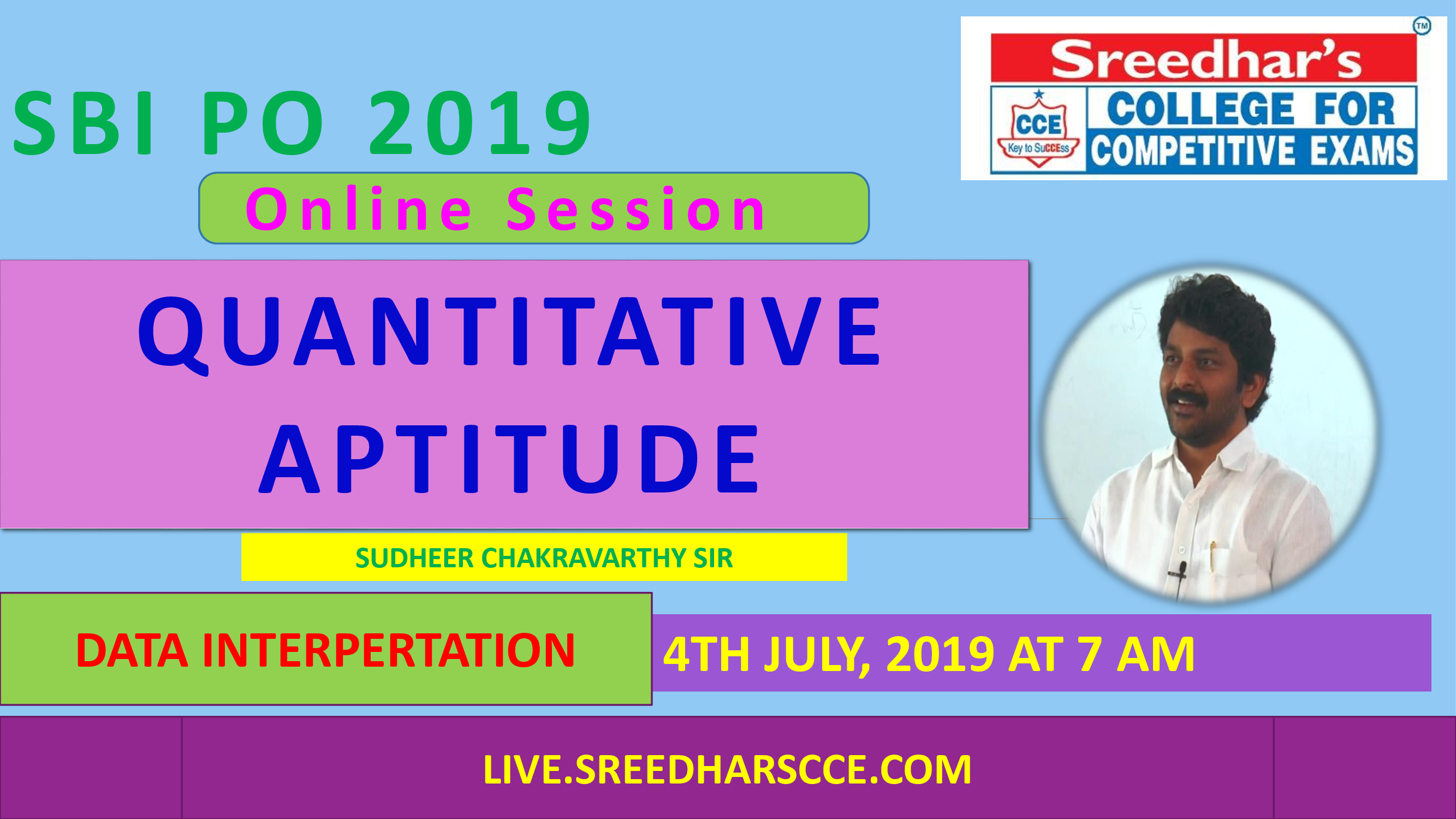 Class Session 27 Quantative Aptitude | By Sudheer Chakravarthy Sir (DATA INTERPRETATION)