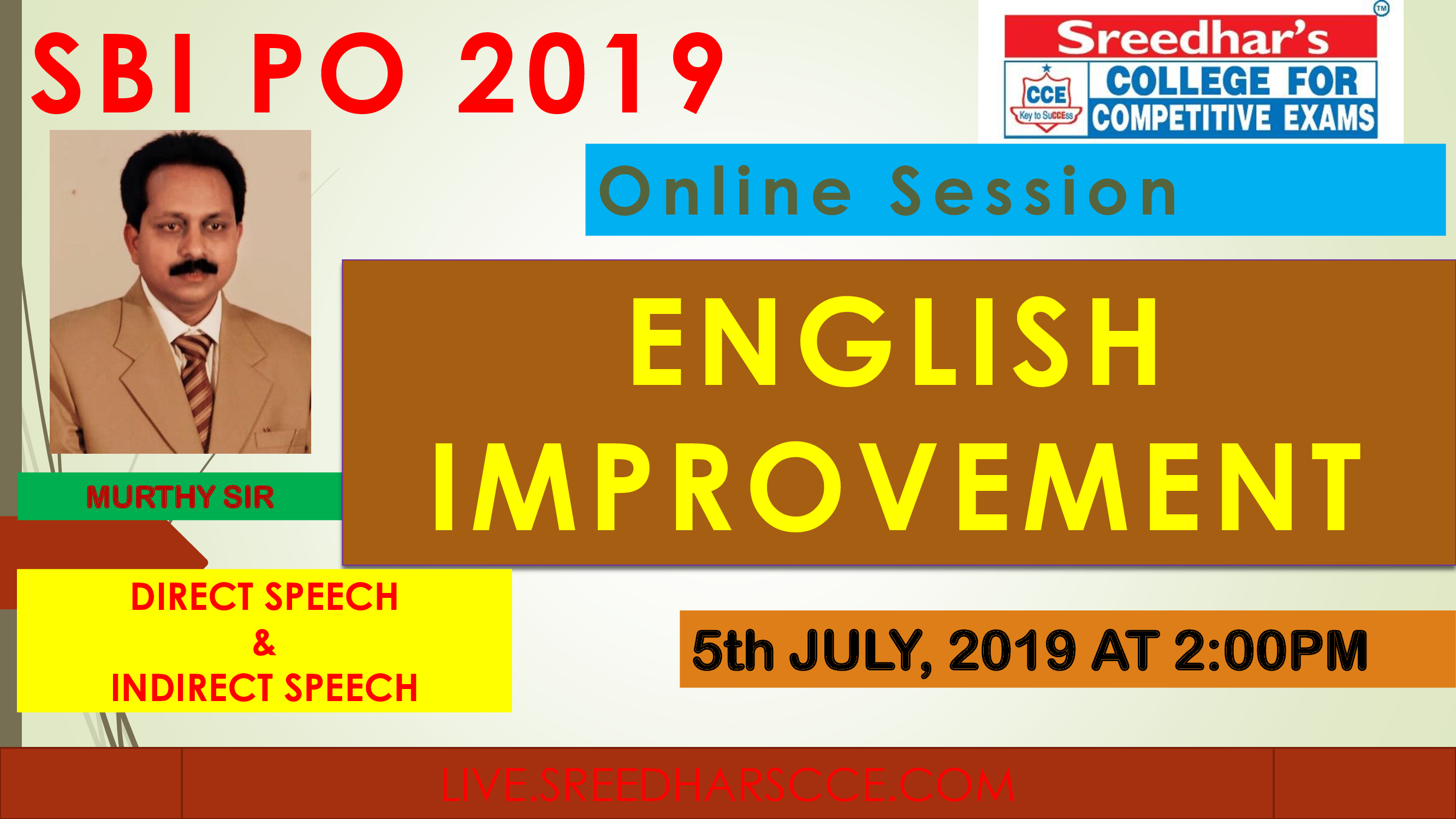 Class Session 21 Eglish Improvement | By Murthy Sir ( Direct Speech & Indirect Speech Excercise)