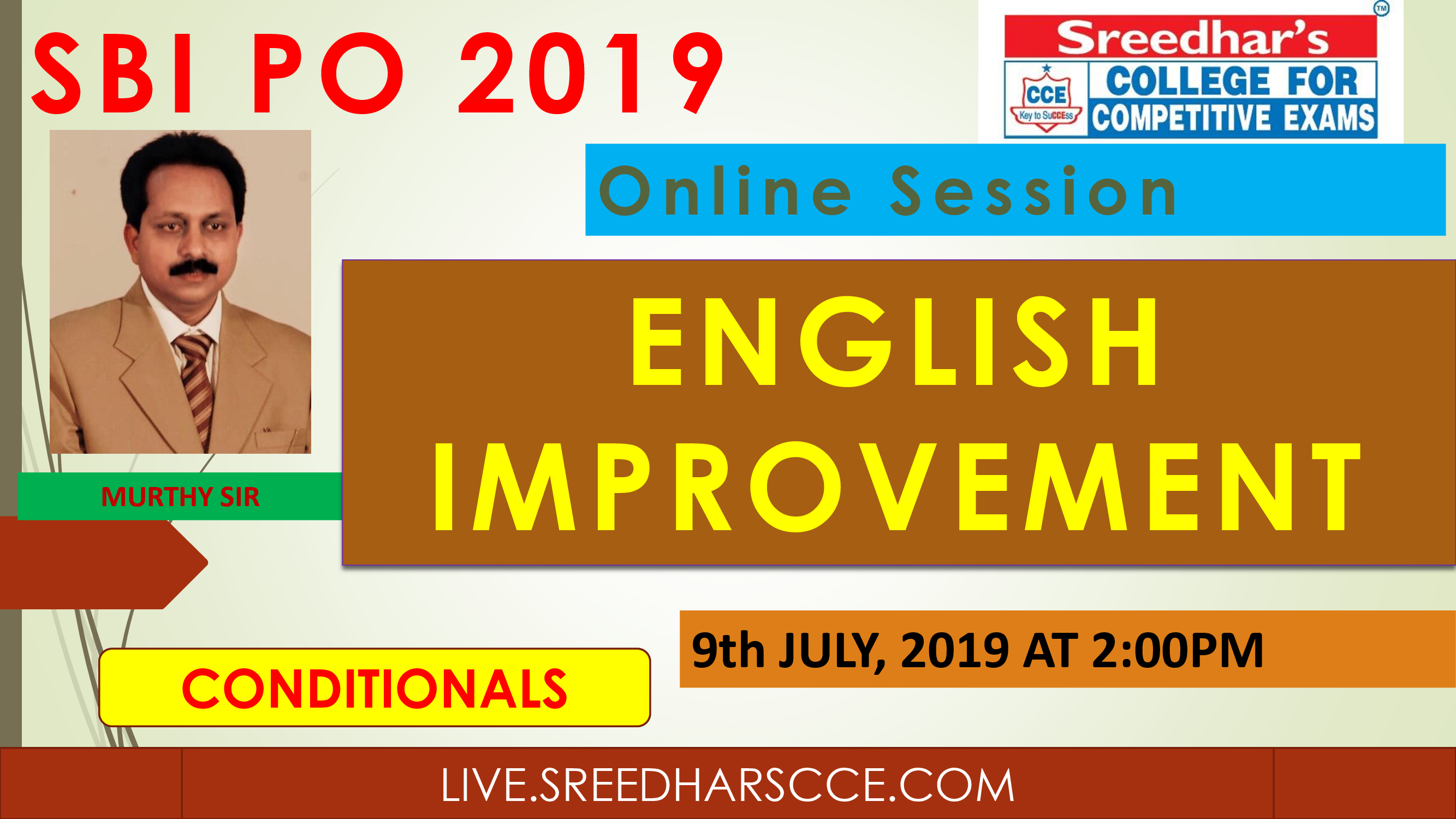 Class Session 23 Eglish Improvement | By Murthy Sir(Conditionals)