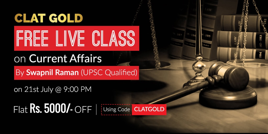 CLAT Live Class on Current Affairs by Swapnil Raman