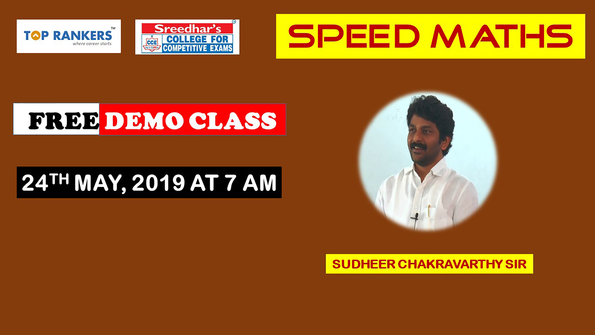 Demo Session 3 Speed Maths | By Sudheer Chakravarthy Sir