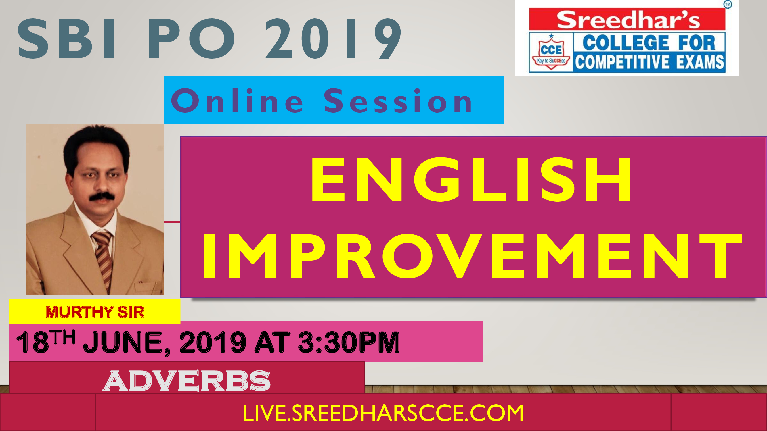 Class Session 9 Eglish Improvement | By Murthy Sir (ADVERBS)