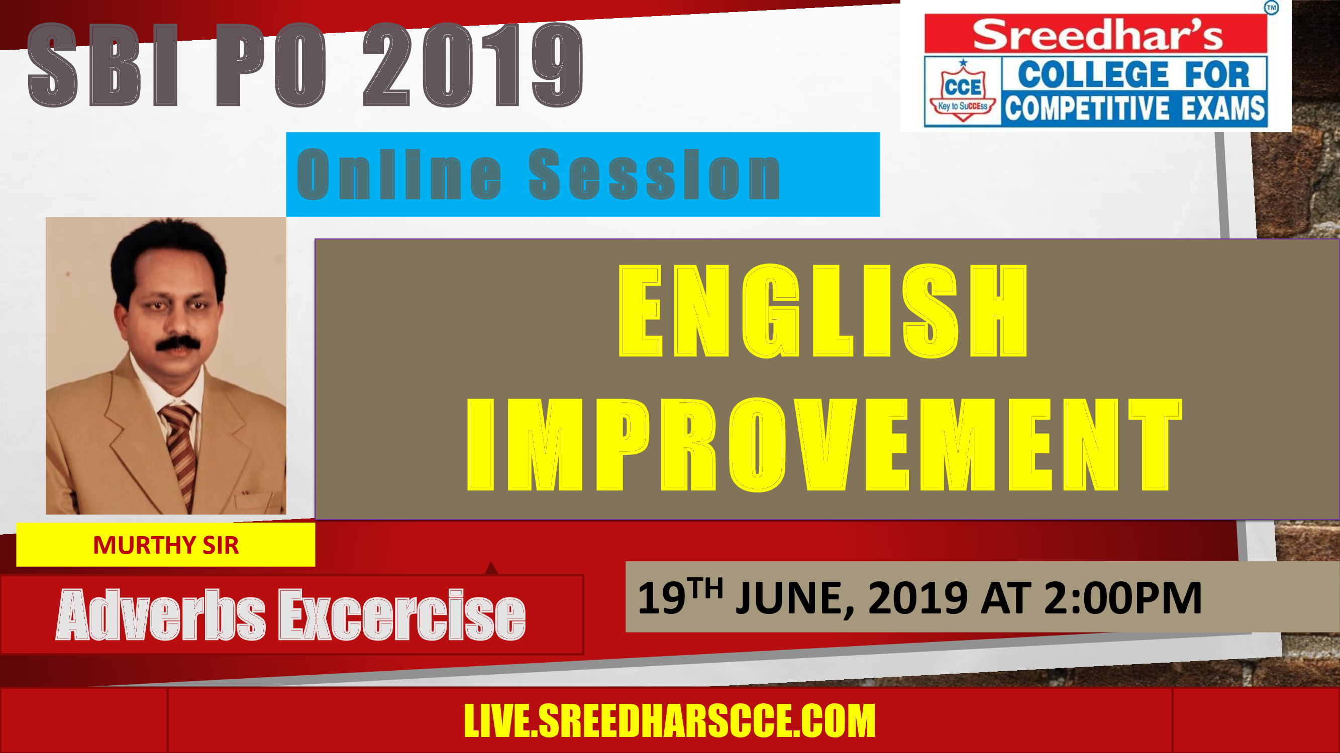 Class Session 10 Eglish Improvement | By Murthy Sir (ADVERBS EXERCISE)