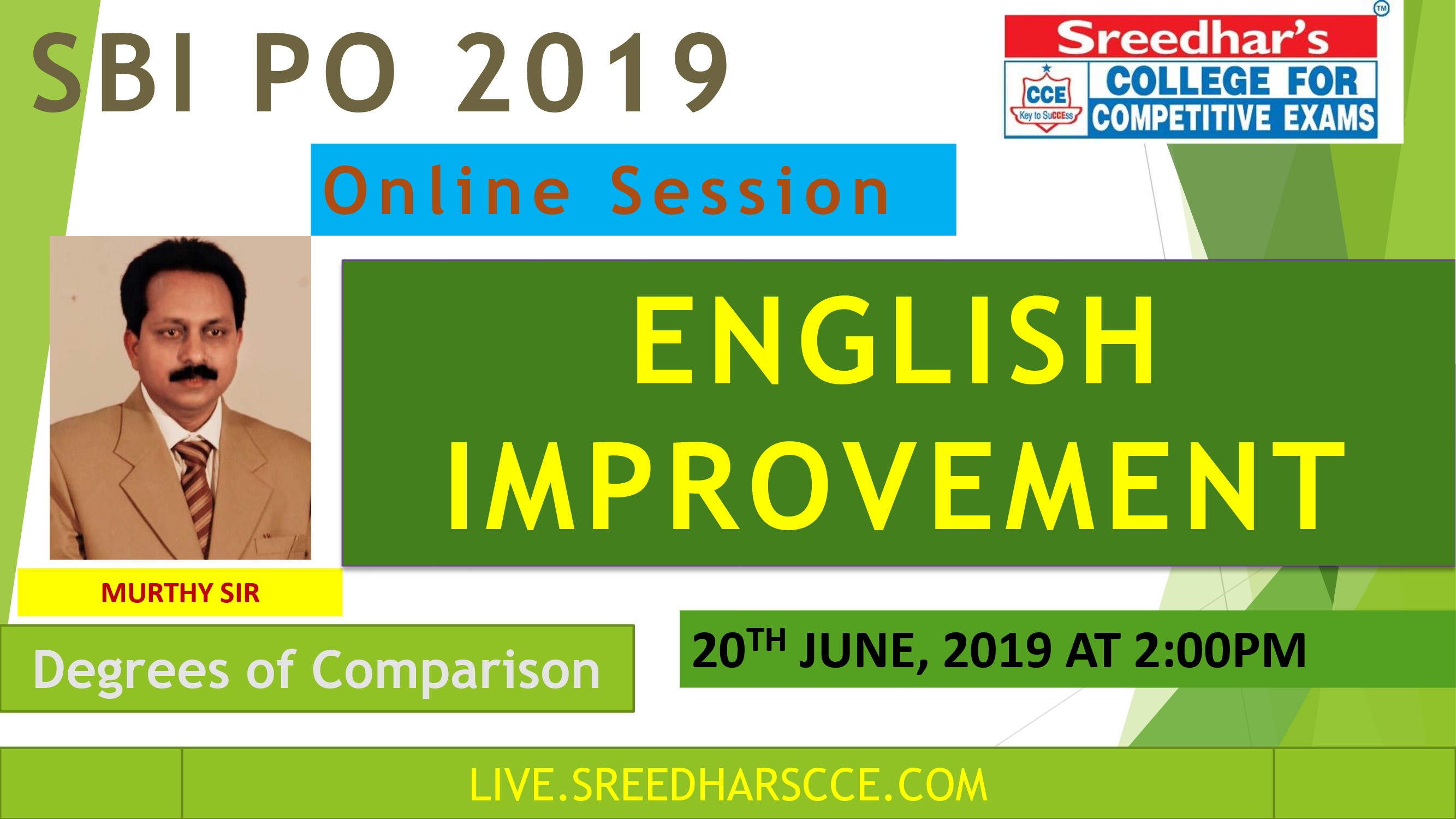 Class Session 11 Eglish Improvement | By Murthy Sir (Degrees of Comparison)