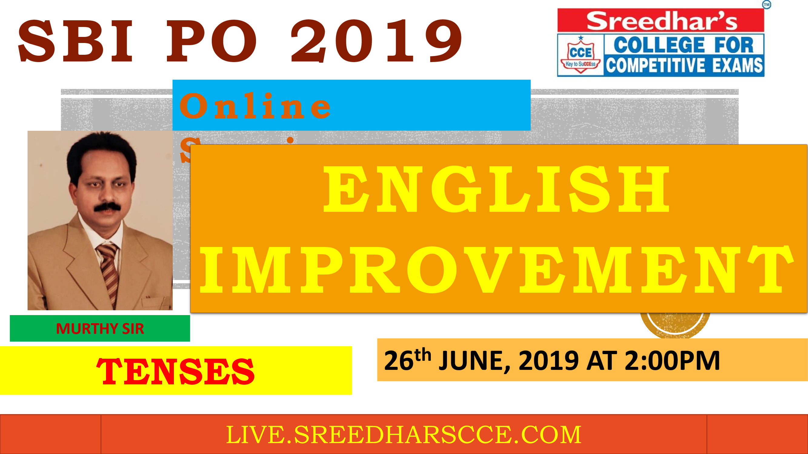 Class Session 14 Eglish Improvement | By Murthy Sir ( Tenses )