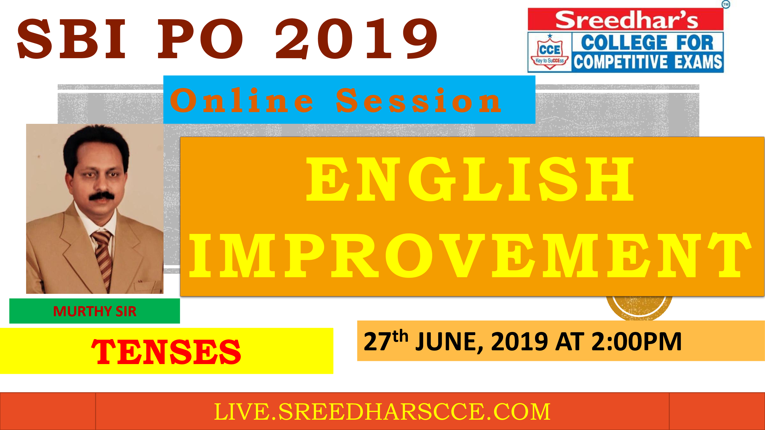 Class Session 15 Eglish Improvement | By Murthy Sir ( Tenses )