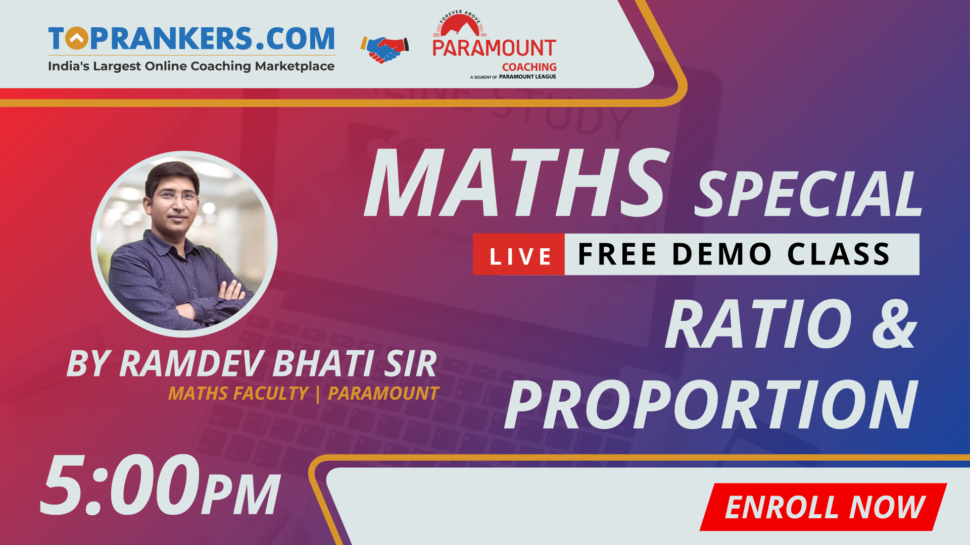 Session 6 | Ratio & Proportion | By Ramdev Bhati Sir