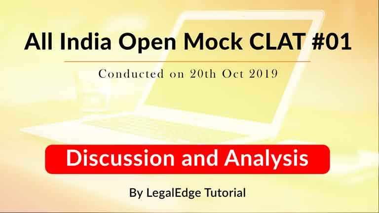 Discussion and Analysis of AIOM CLAT 01 | Conducted on 20th Oct 2019 | English Language