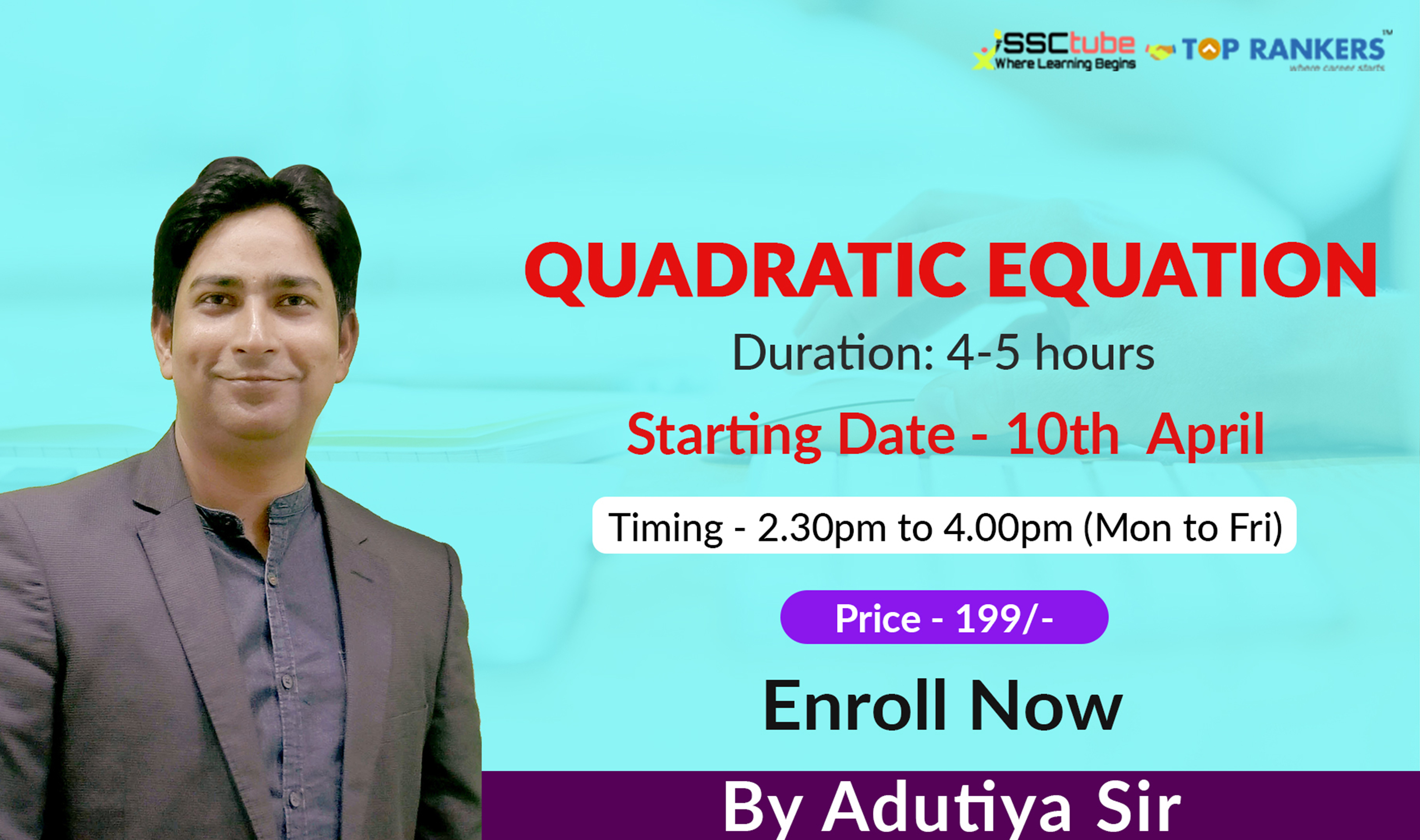 Quadratic Equation | Session 03