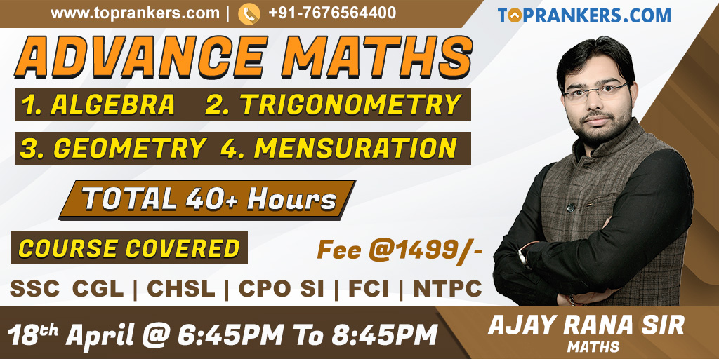 SSC Maths Online Classes by Ajay Rana Sir | Maths Video