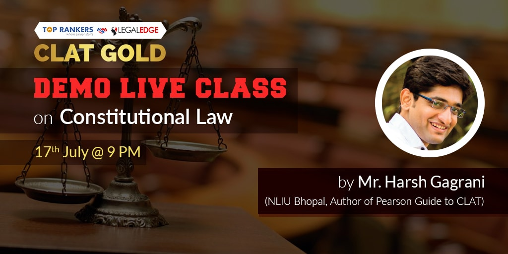 CLAT Live class on Constitutional Law | CLAT Gold by Mr. Harsh Gagrani