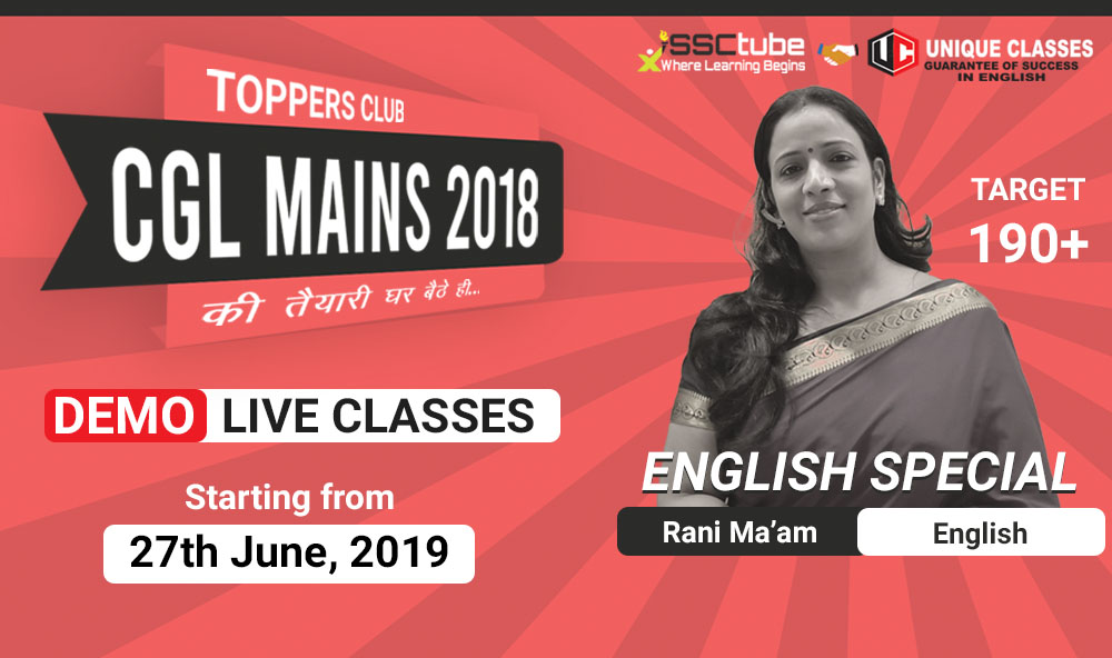 Demo Session | English Tier-II | by Rani Ma'am