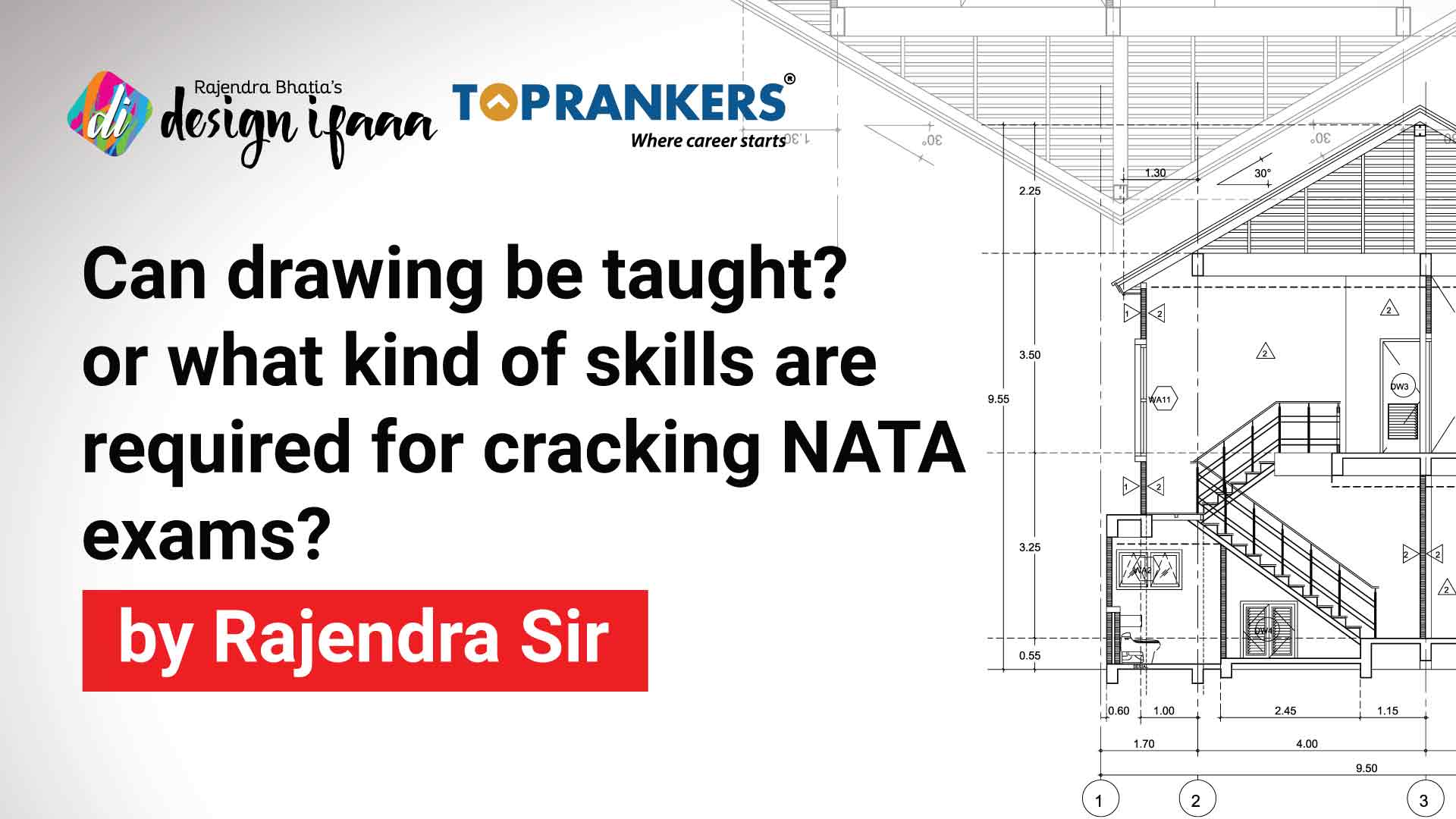 Can drawing be taught? or what kind of skills are required for cracking NATA exams? by Rajendra Sir