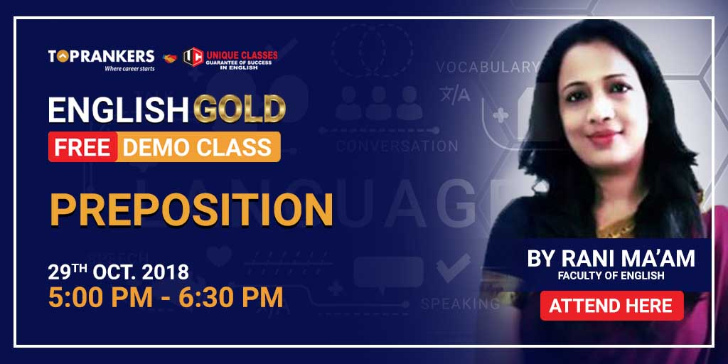 Session 8 | English Gold | Preposition