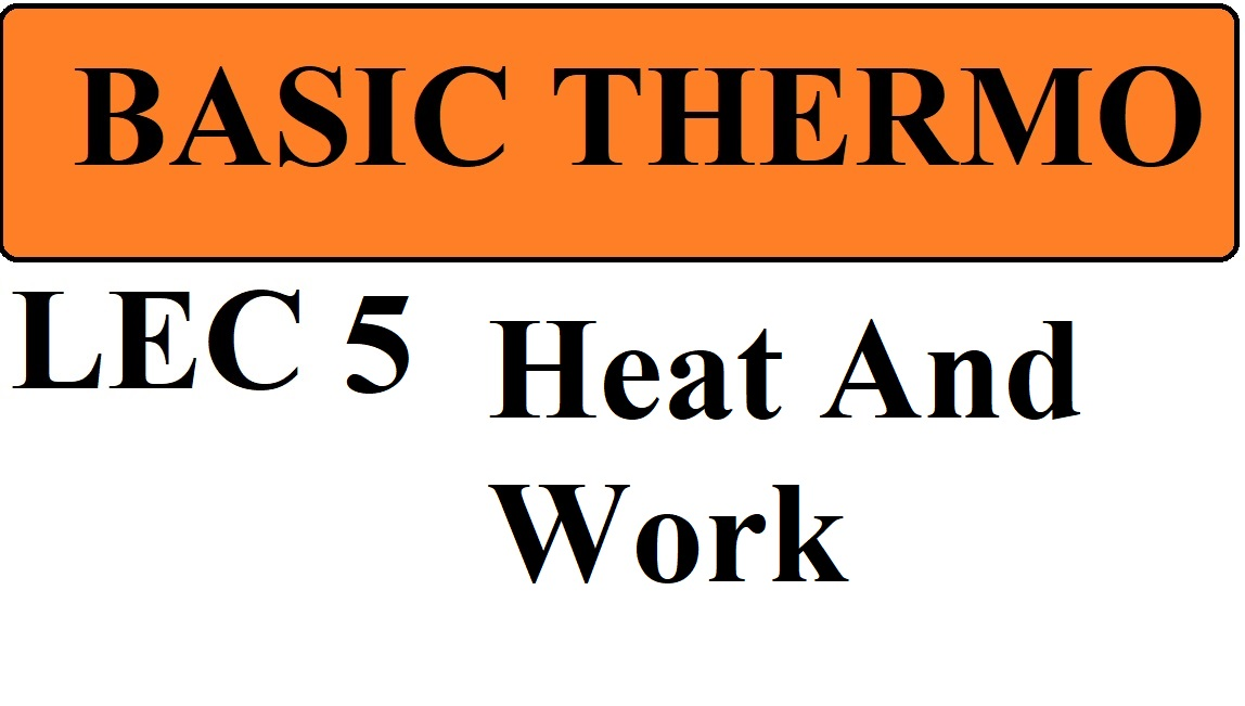 Lec 5 Thermodynamic Work and Heat