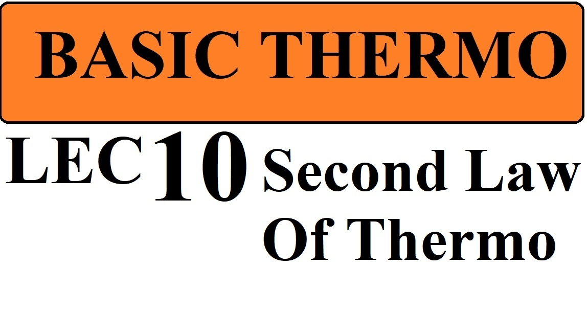 Lec 10 Second law Of Thermodynamics