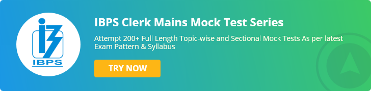 IBPS Clerk Mains Mock Test