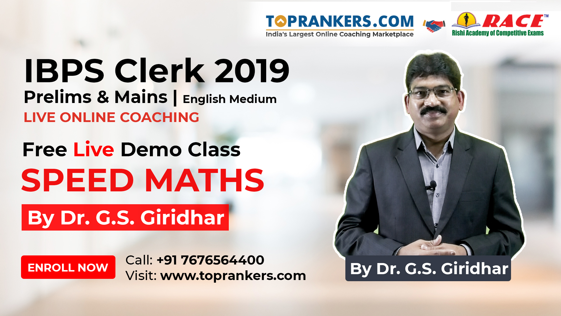 Speed Maths By Dr. G.S.Giridhar, Founder & Director