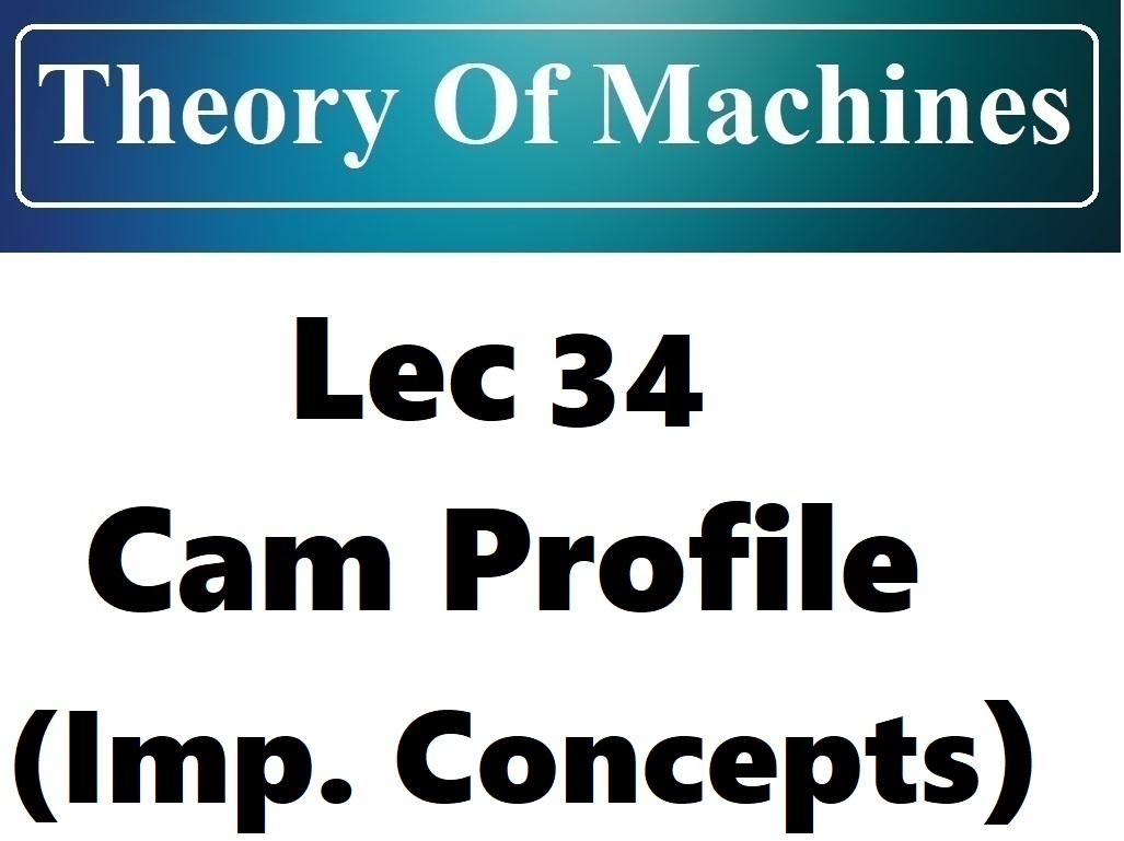 Lec 34 Cam Profile (Important terms and concepts)