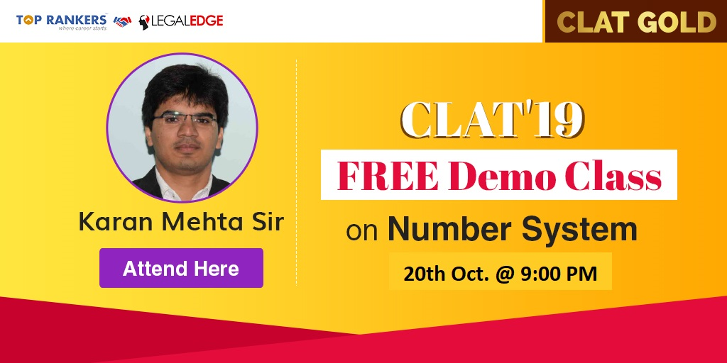 CLAT Free Demo on Number System Session 2 by Karan Mehta Sir